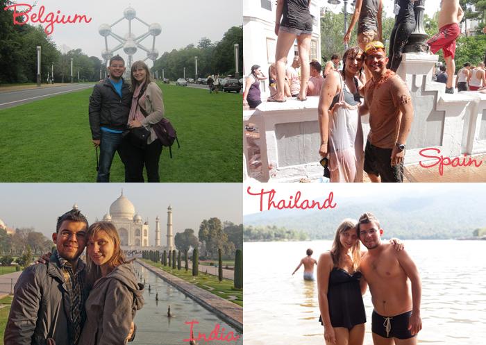 Val and Jaime around the world