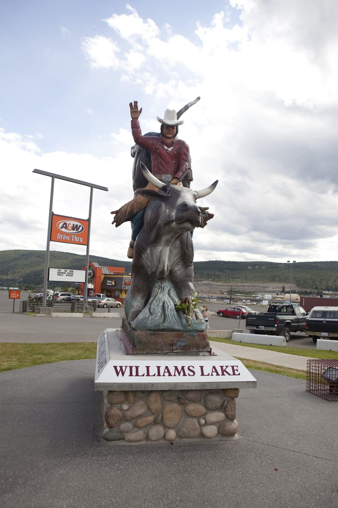 Cowboy statue in British Columbia
