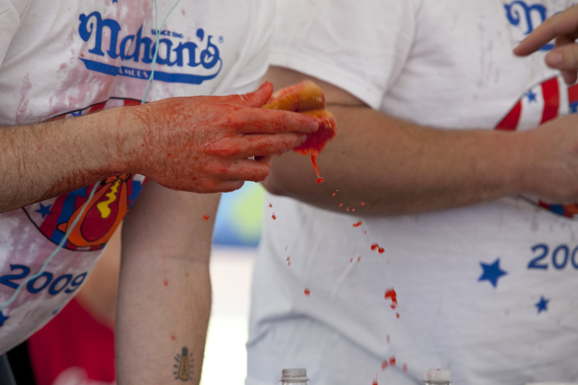 Nathan's Famous hot dog eating contest qualifier in Kansas City, Missouri