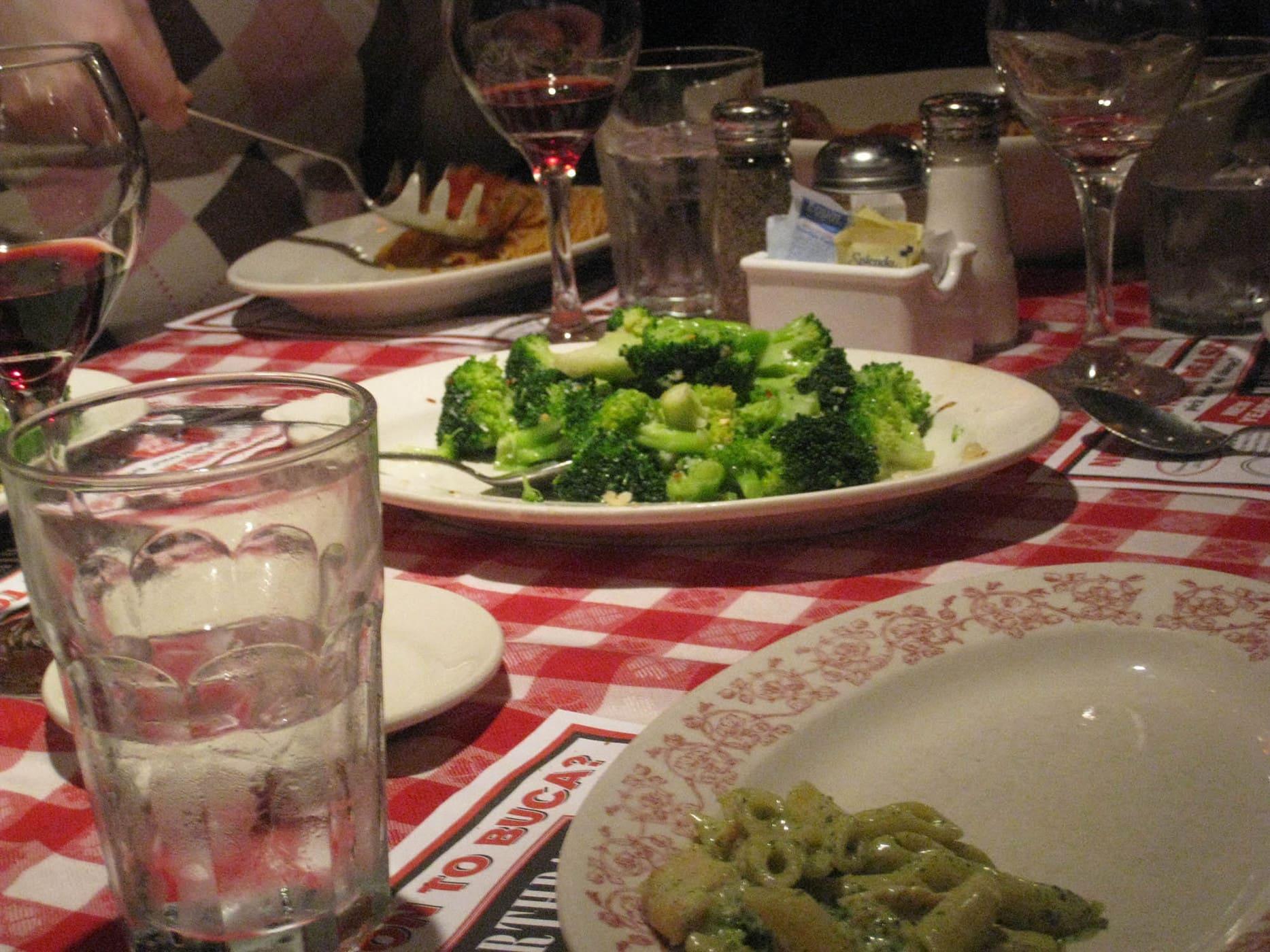 Italian Broccoli Romano at Bucca di Beppo