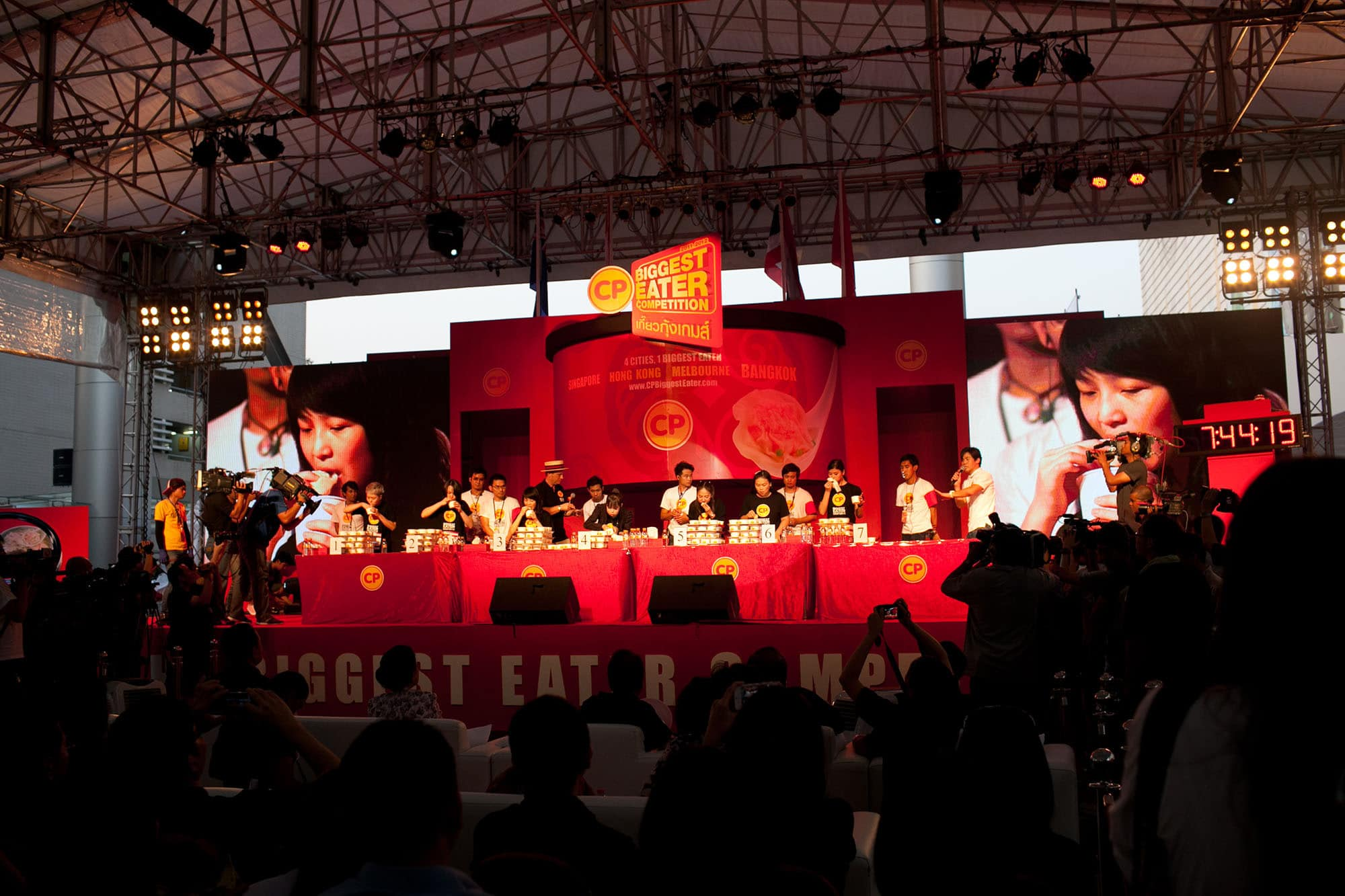 CP Biggest Eater finals in Bangkok, Thailand
