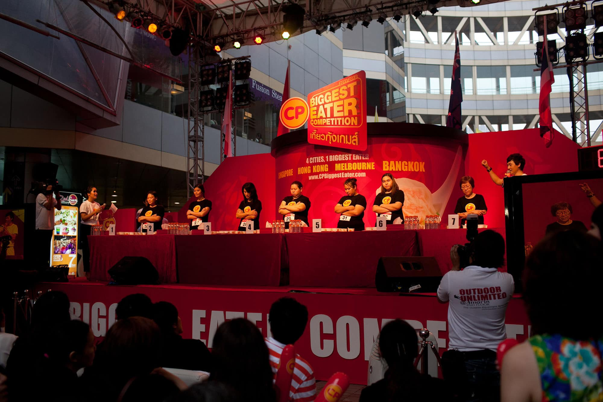 CP Biggest Eater Contest finals in Bangkok, Thailand.