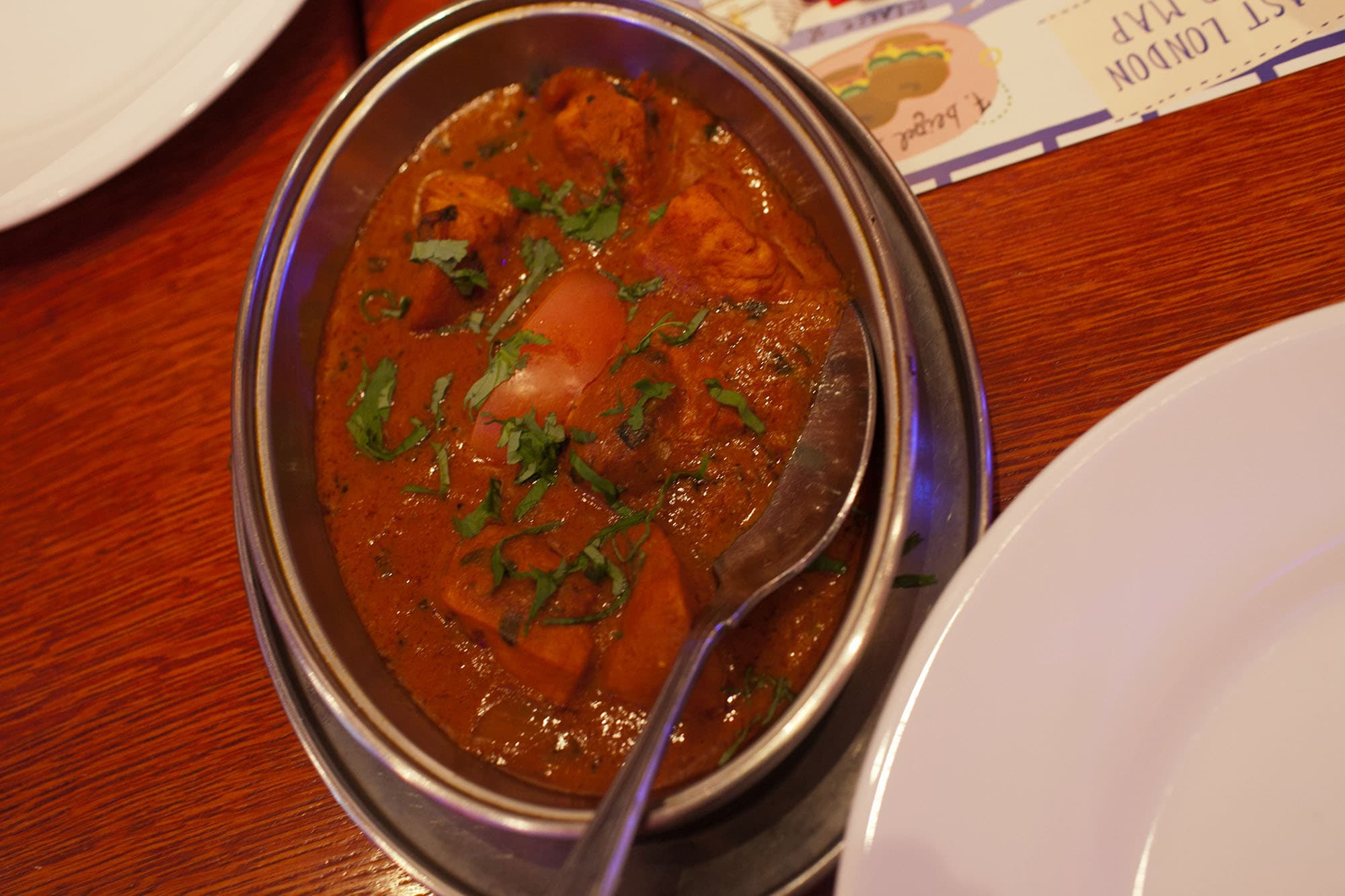 Curry at Aladin on the Eating London food tour in London, England