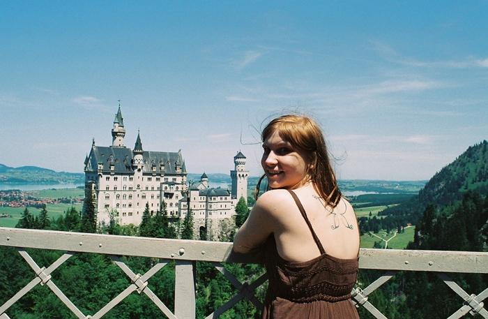 Val at Neuschwanstein Castle.