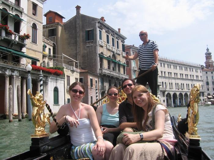 Goldola ride in Venice, Italy