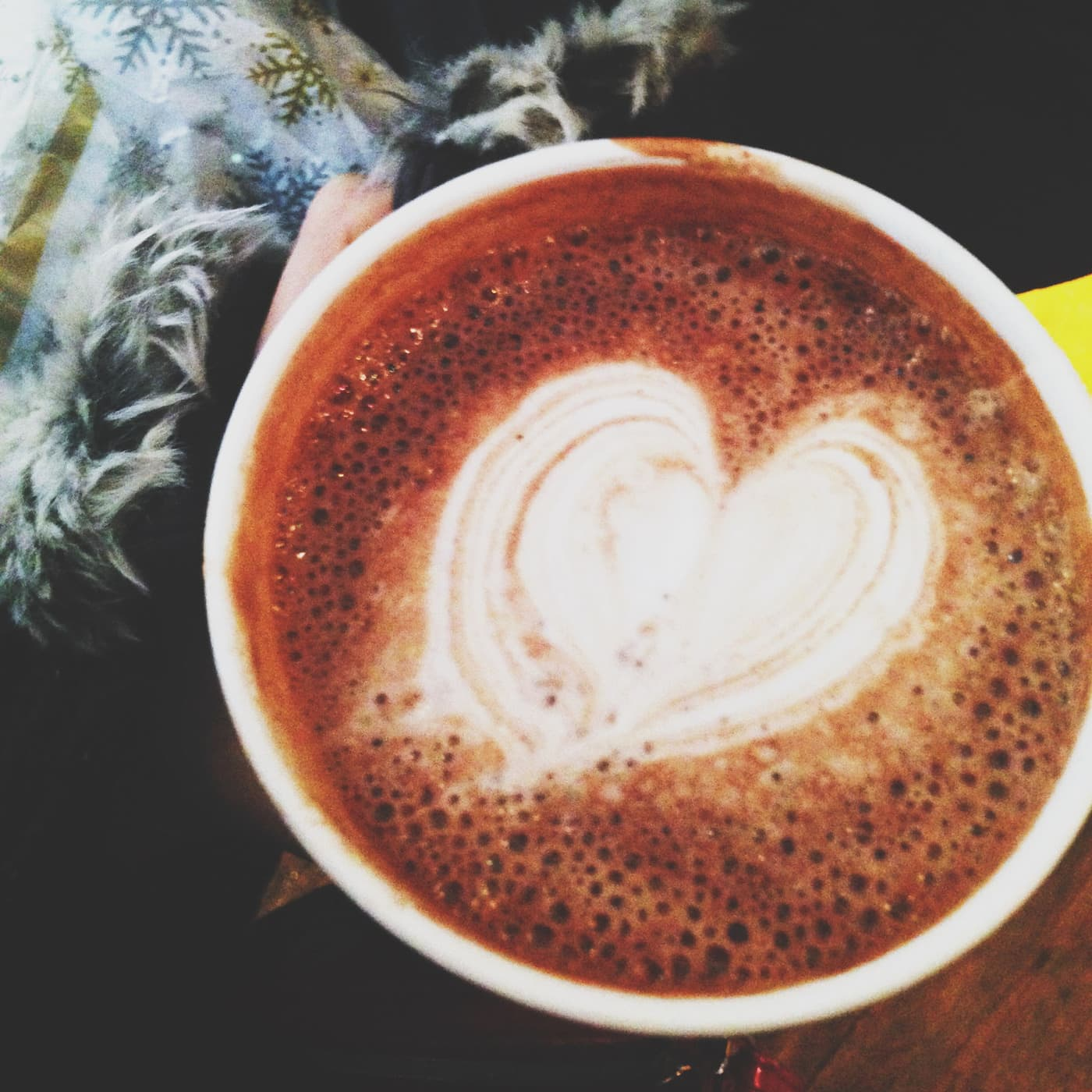 Heart in my hot chocolate at Little Goat