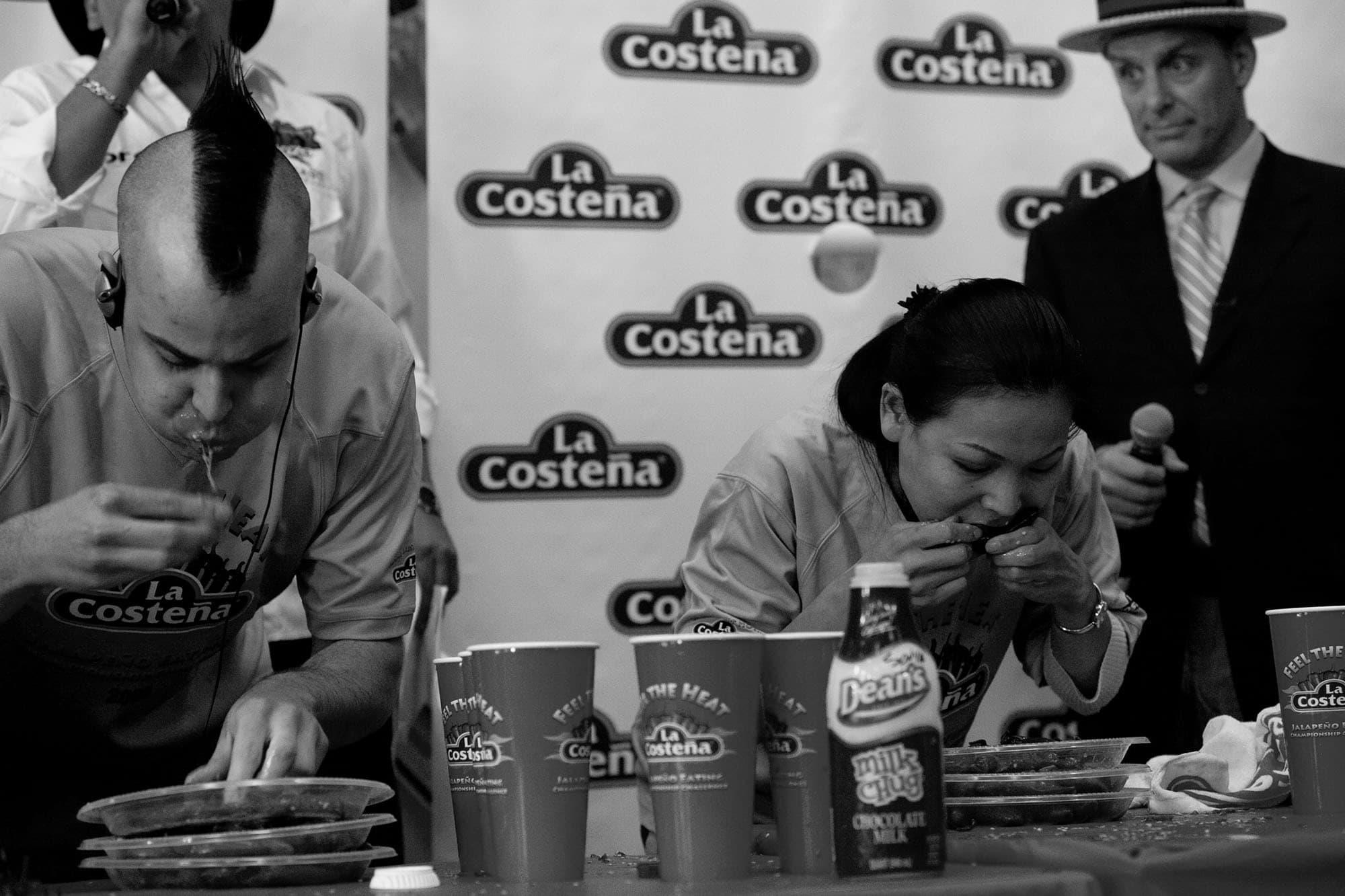 La Costena Jalapeno Eating Contest in Chicago, Illinois.