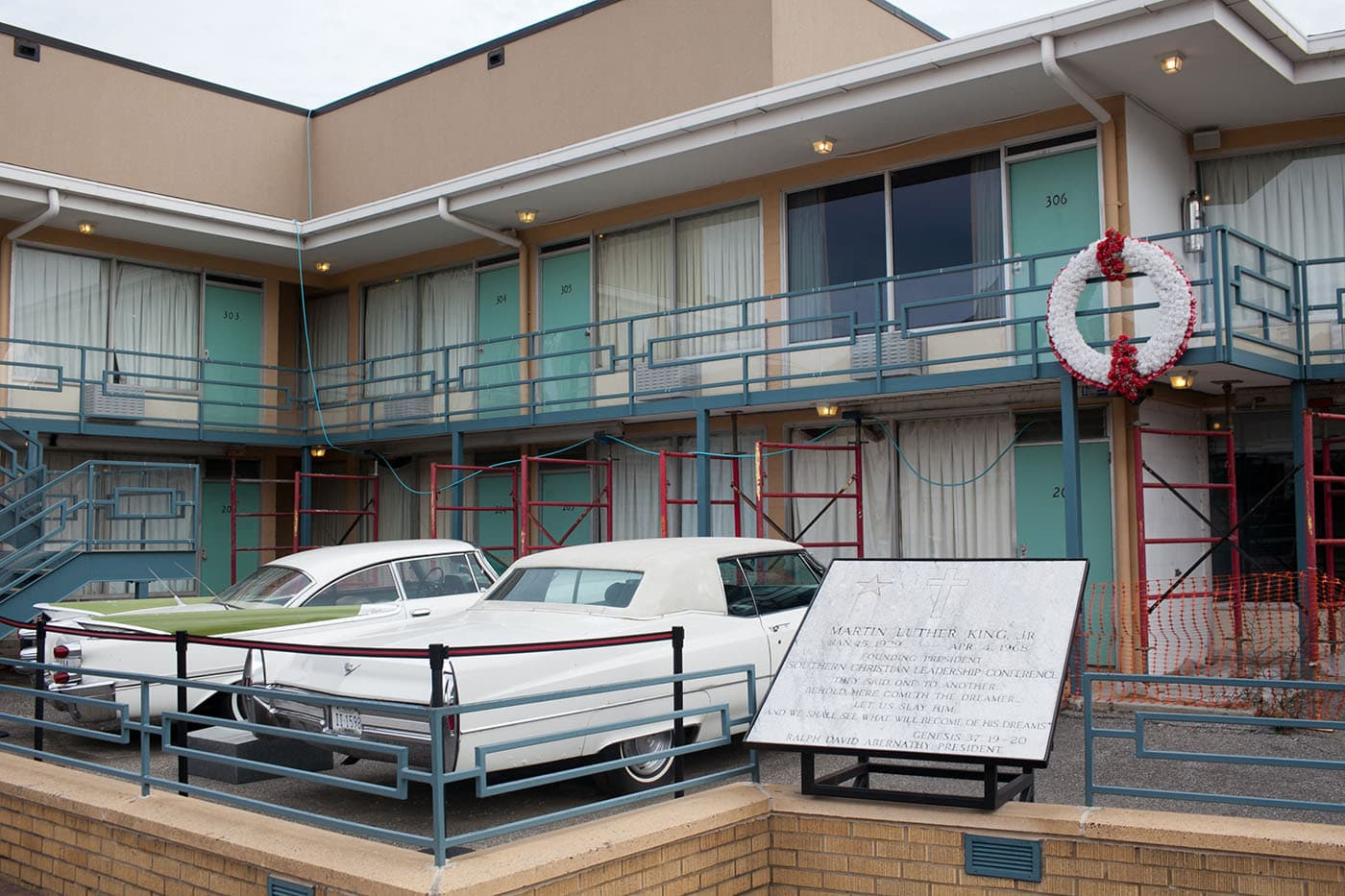 Lorraine Motel, where Martin Luther King was shot,  in Memphis, Tennessee.