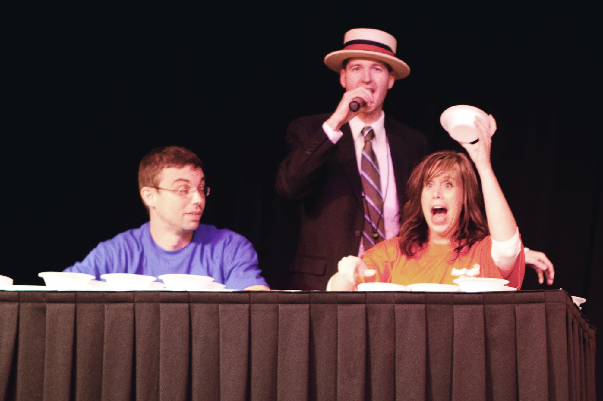 Ice Cream eating contest in Metropolis, Illinois