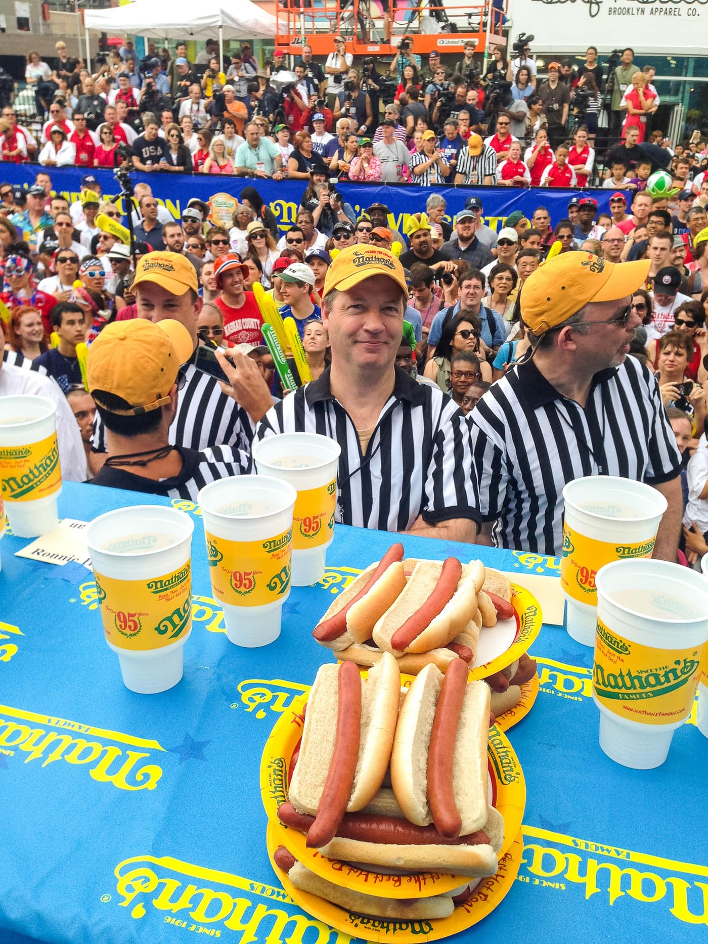 Nathan's Famous July Fourth Hot Dog Eating Contest at Coney Island.