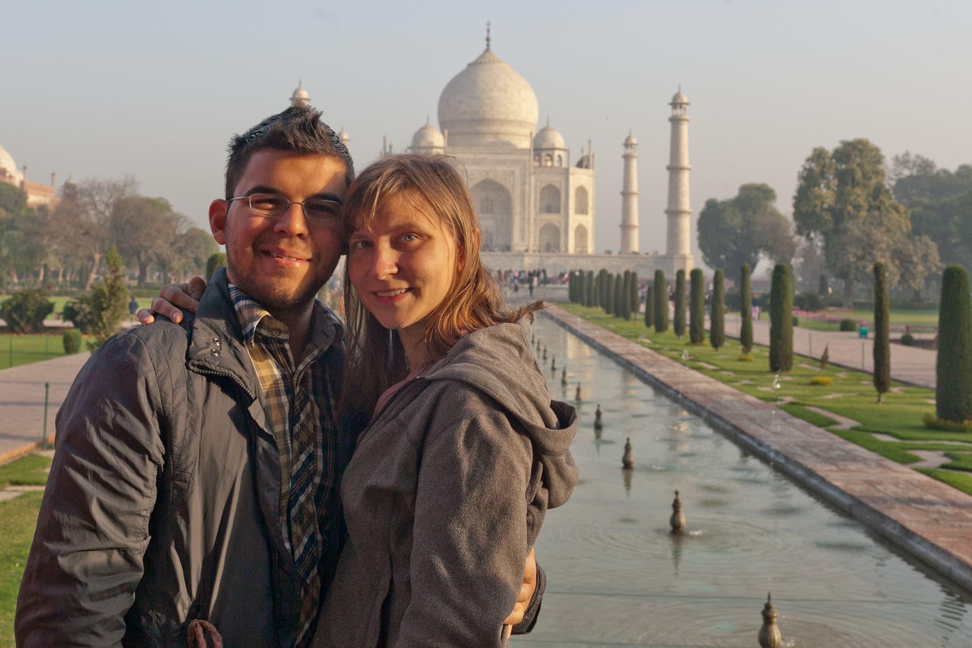 Me and Jaime at the Taj Mahal.