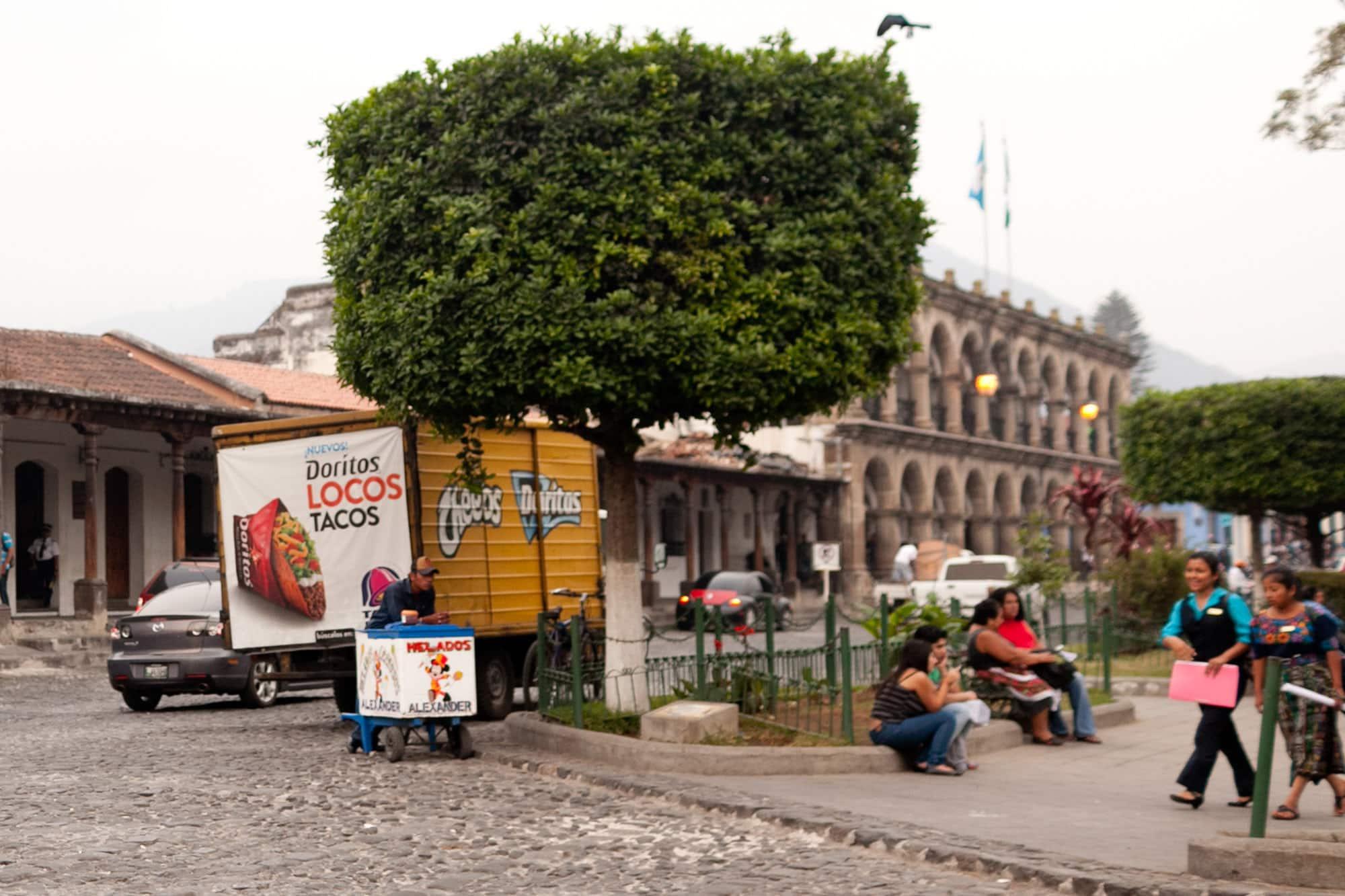 Doritos Locos Tacos in Antigua, Guatemala