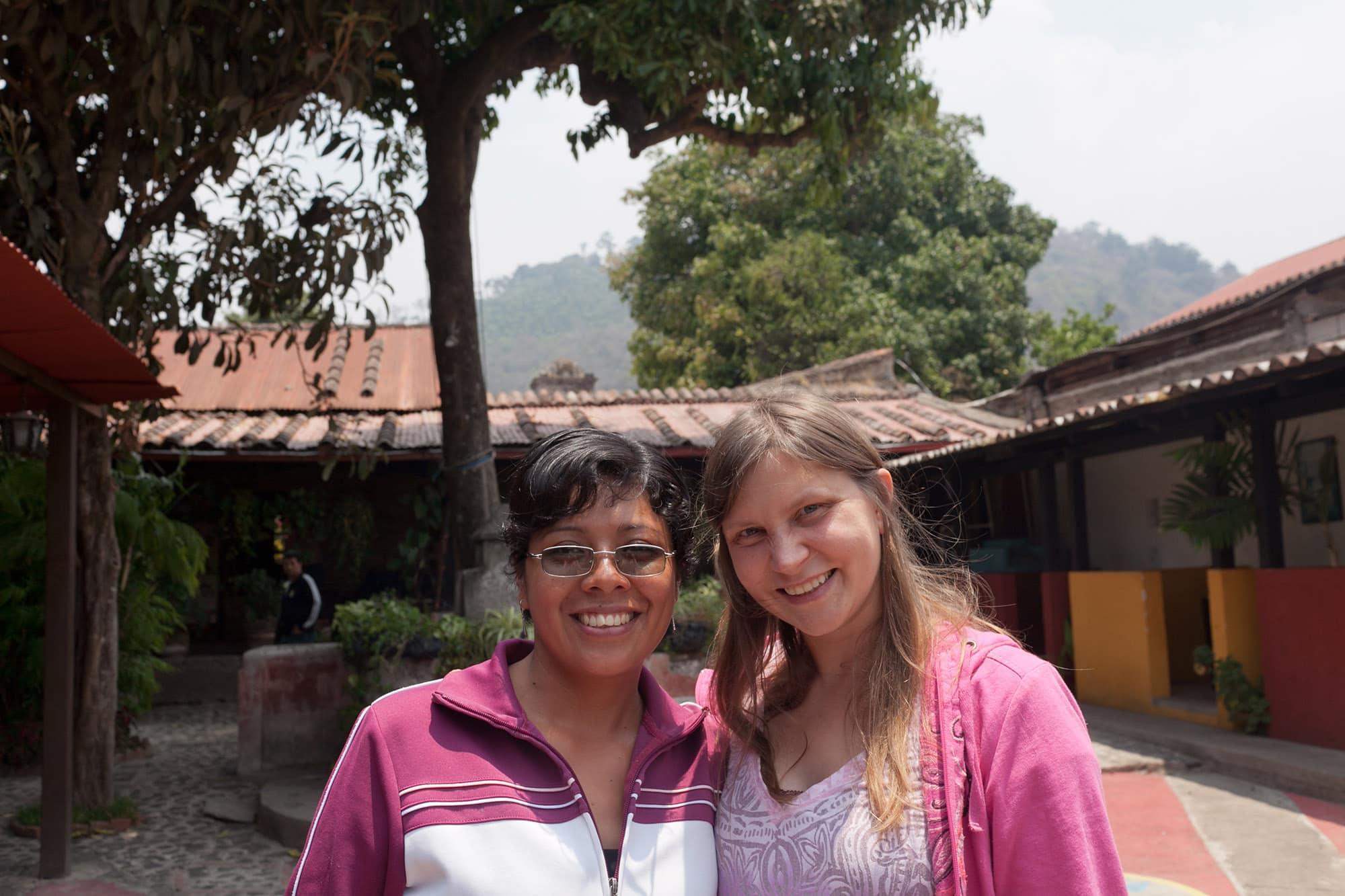 My Spanish teacher in Antigua, Guatemala