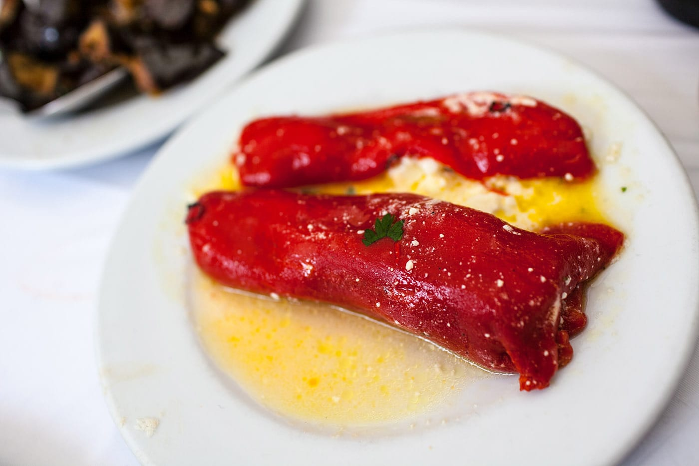 Stuffed peppers in Athens, Greece