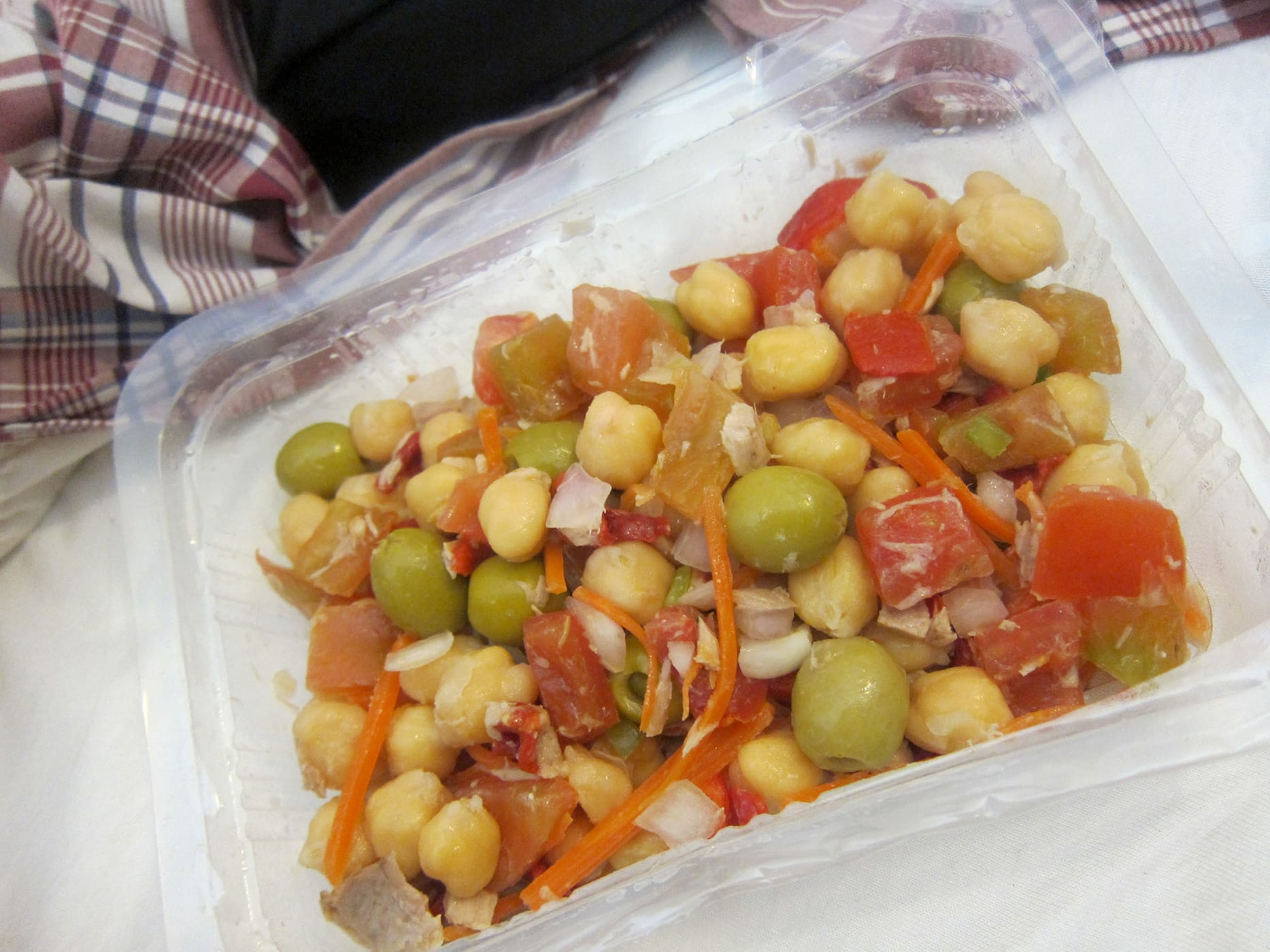 Salad from Mercat de Sant Josep de La Boqueria in Barcelona, Spain.