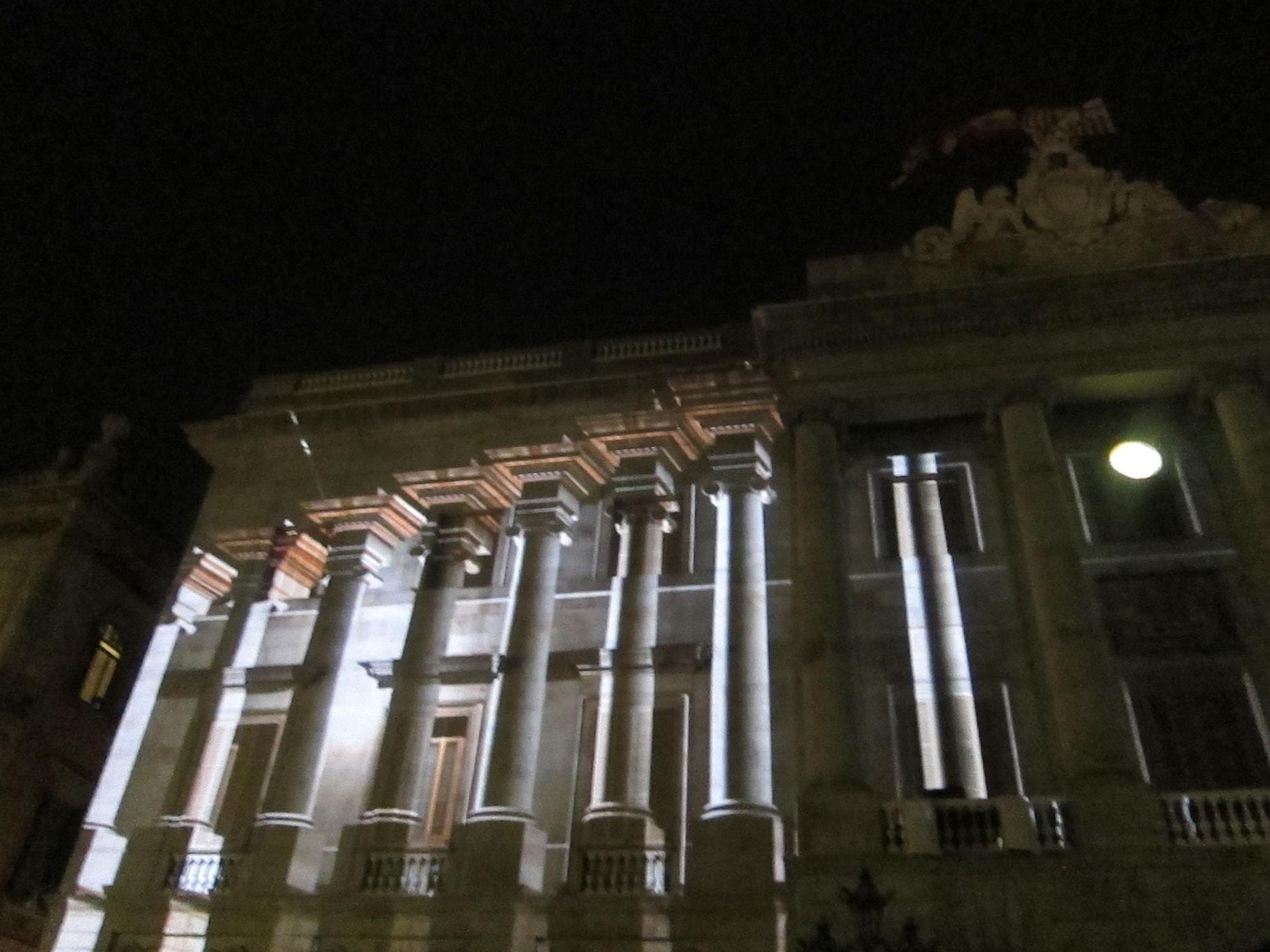 Building projections at La Mercè Festival in Barcelona, Spain