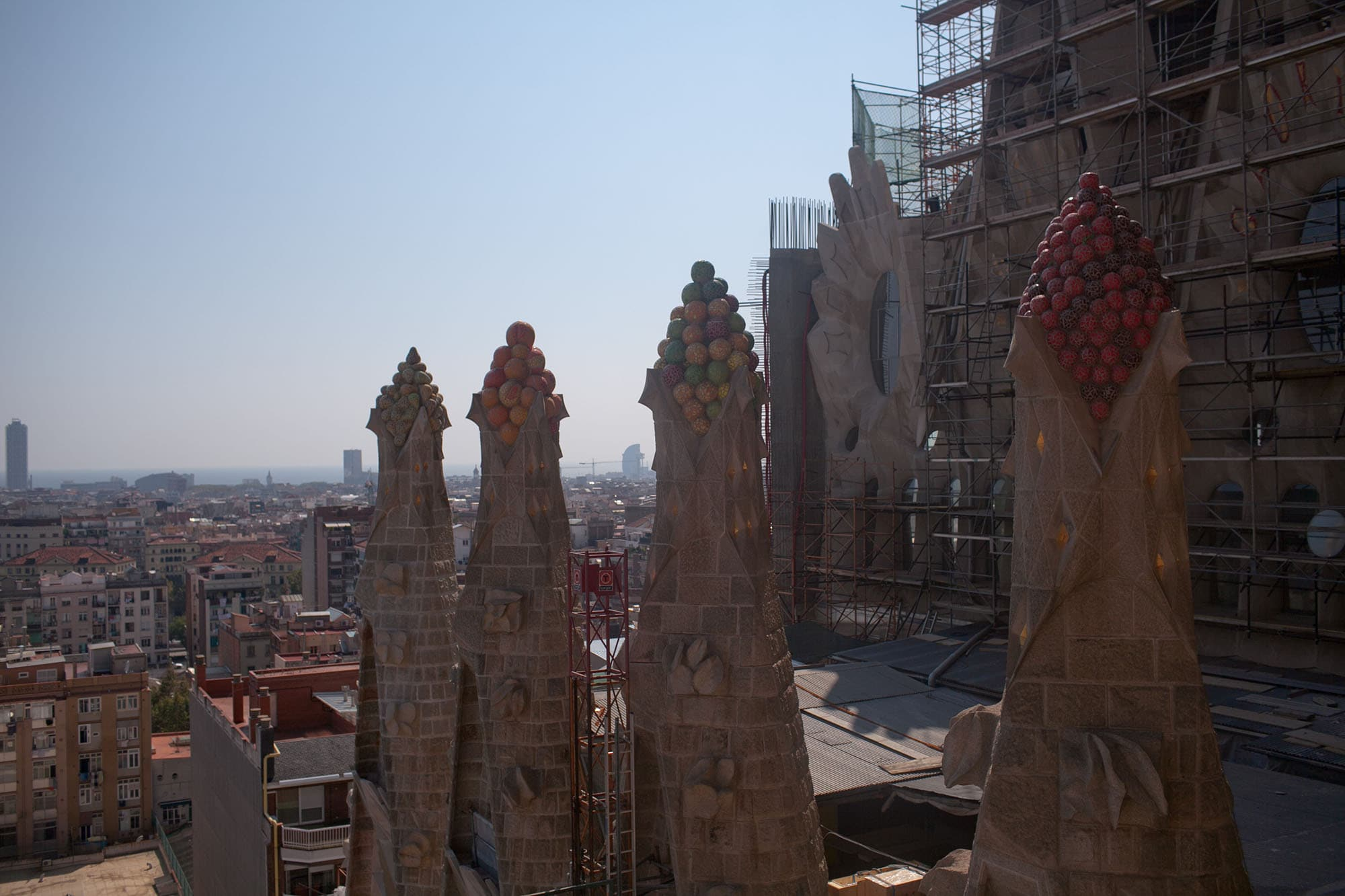 La Sagrada Família, Gaudi's unfinished cathedral in Barcelona, Spain