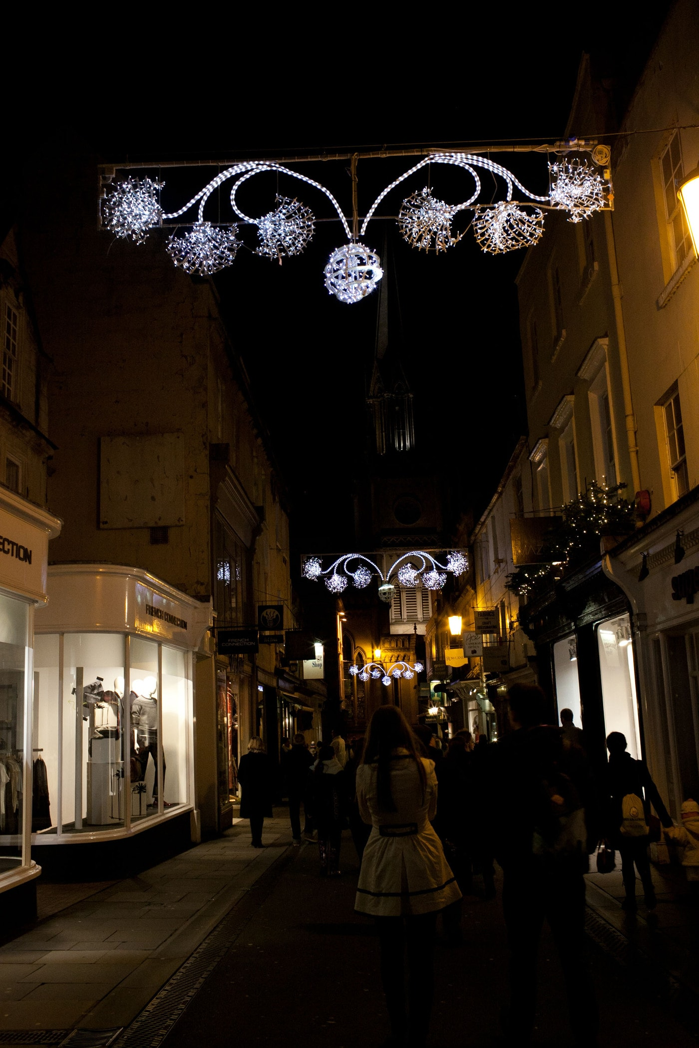 Christmas Light turn on 2013 in Bath, England featuring Mary Berry