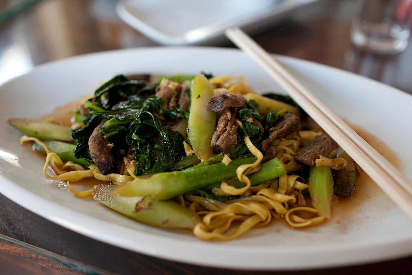Vegetarian restaurant in Battambang, Cambodia
