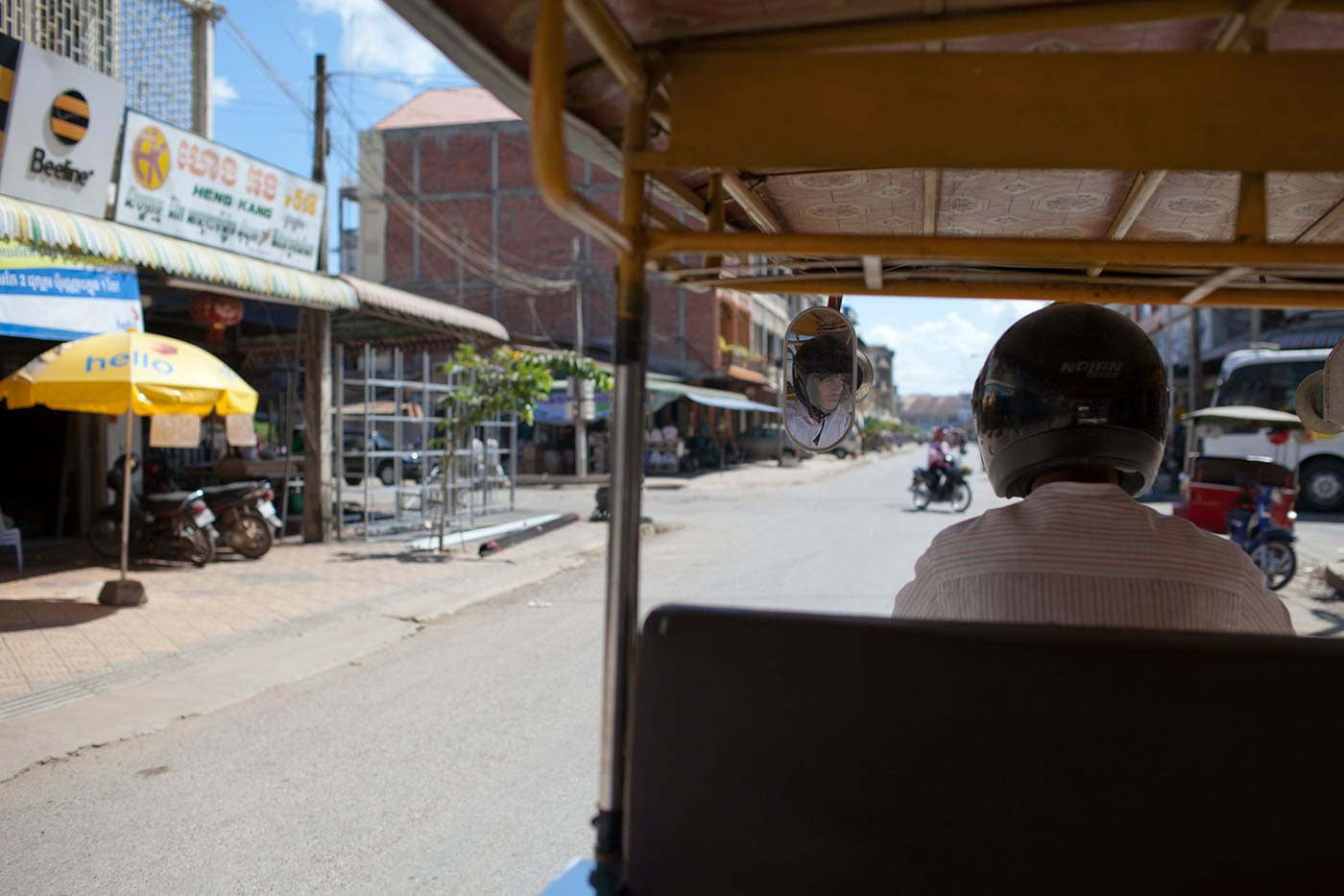 Tuk-tuk driver in Battambang, Cambodia