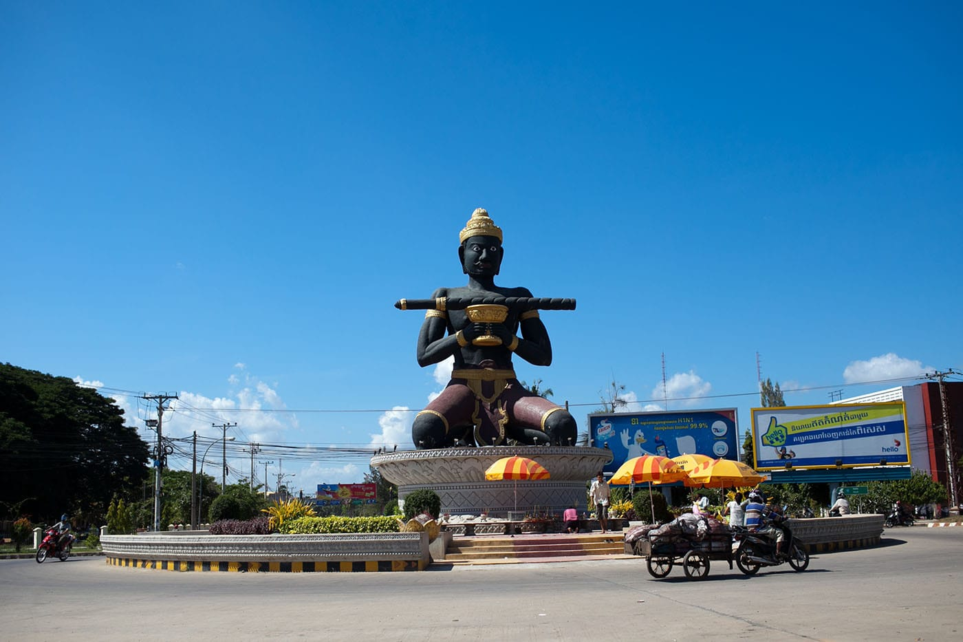 The symbol of Battambang, Cambodia