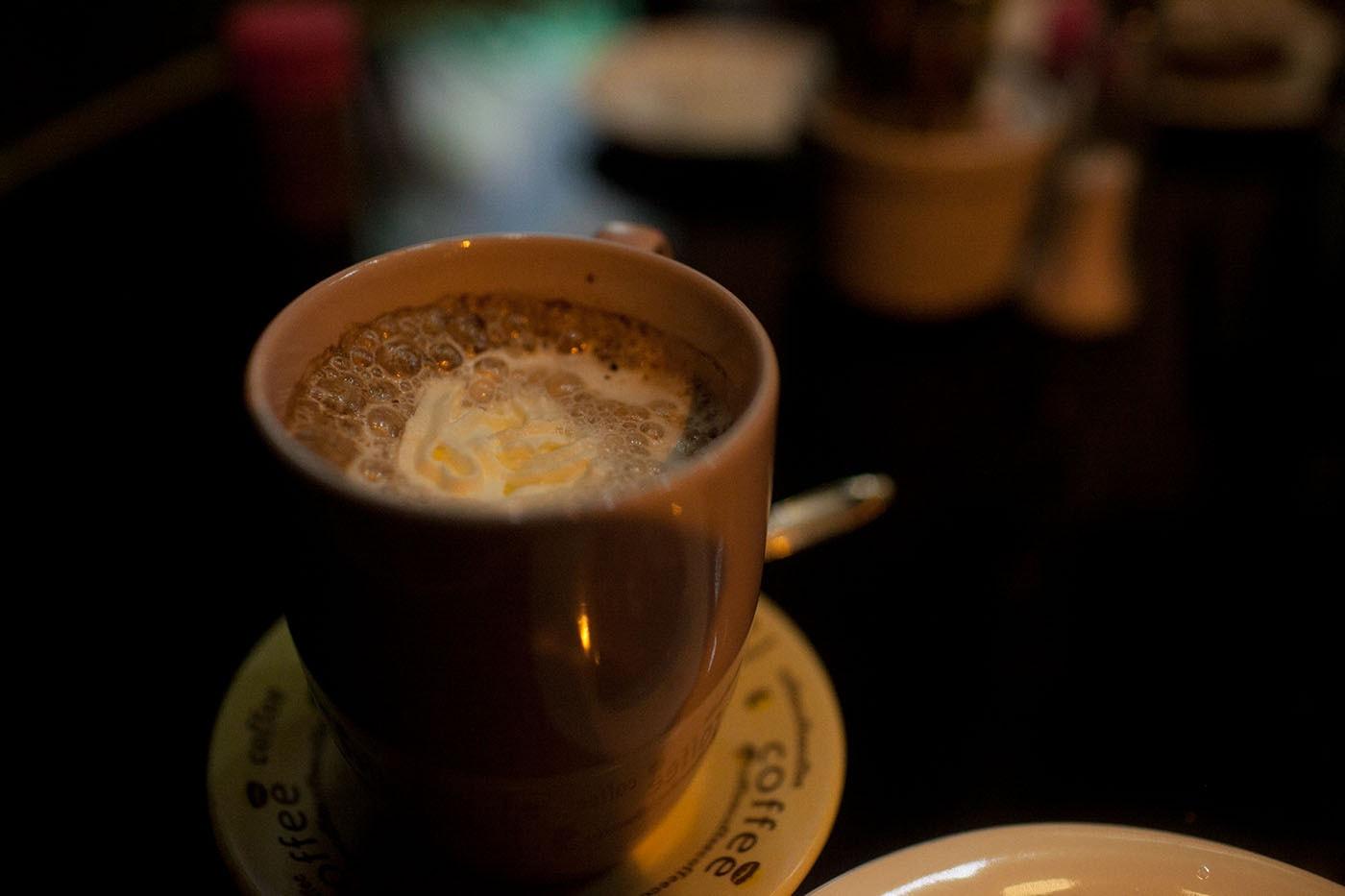 Hot chocolate in Battambang, Cambodia