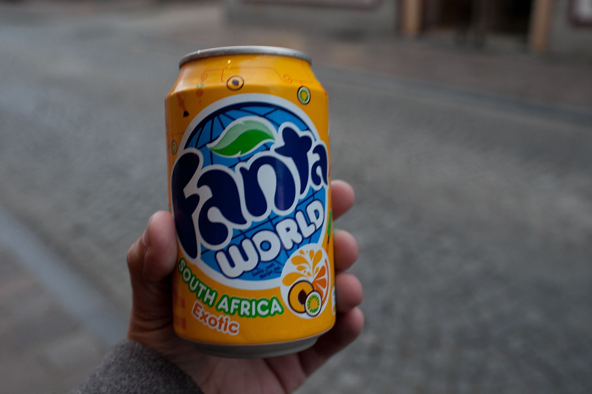 South Africa flavored Fanta in Bruges, Belgium