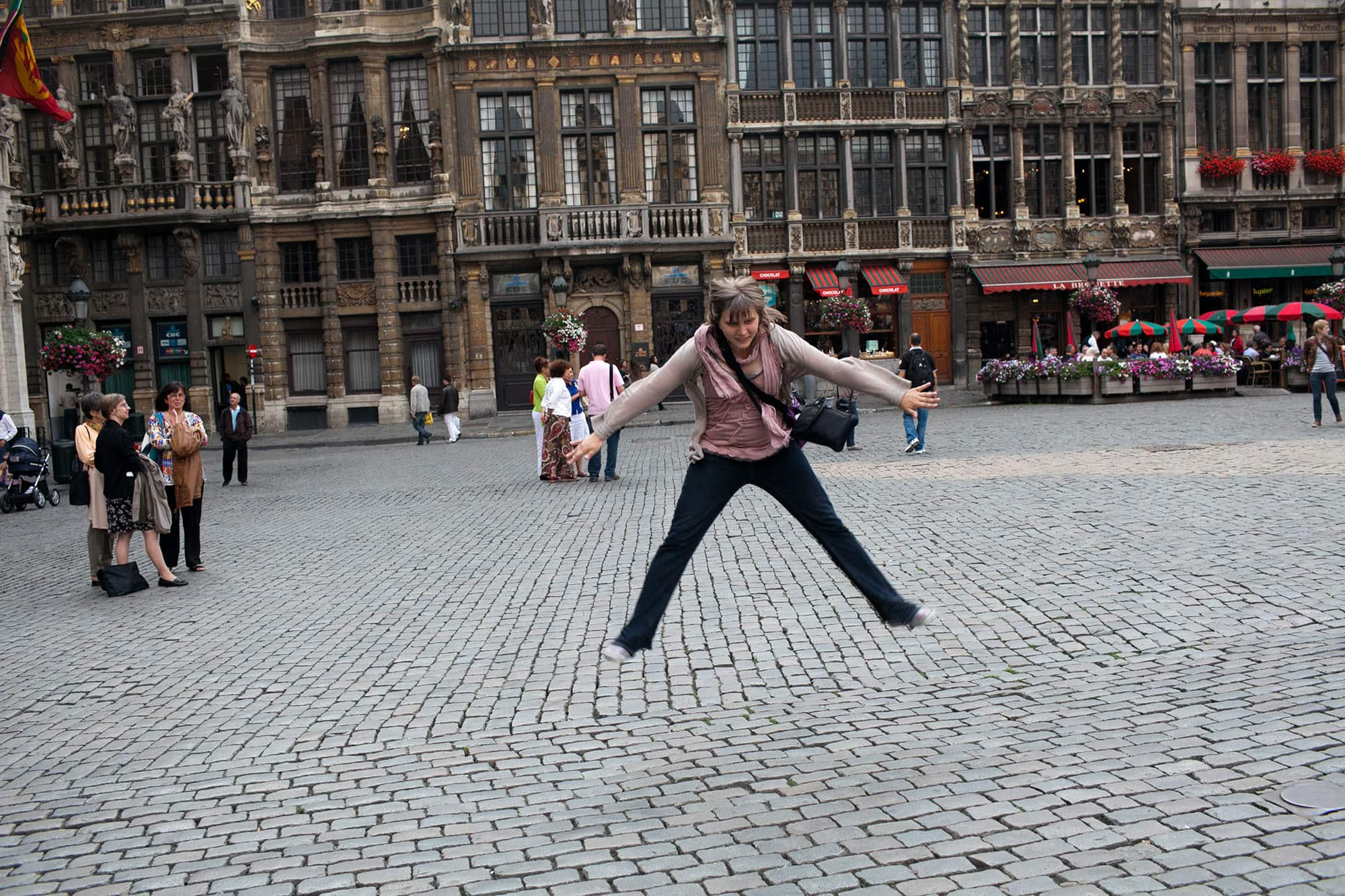 Toe touch in Brussels, Belgium