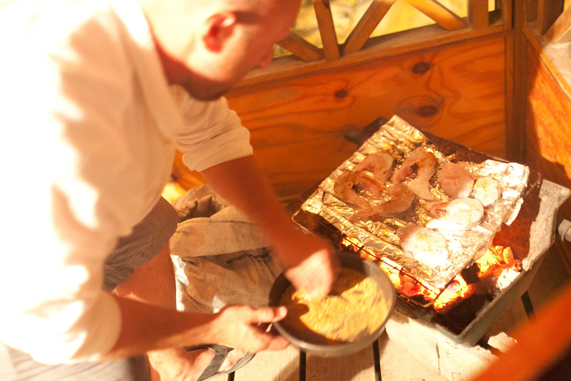 Fish BBQ in Caye Caulker, Belize