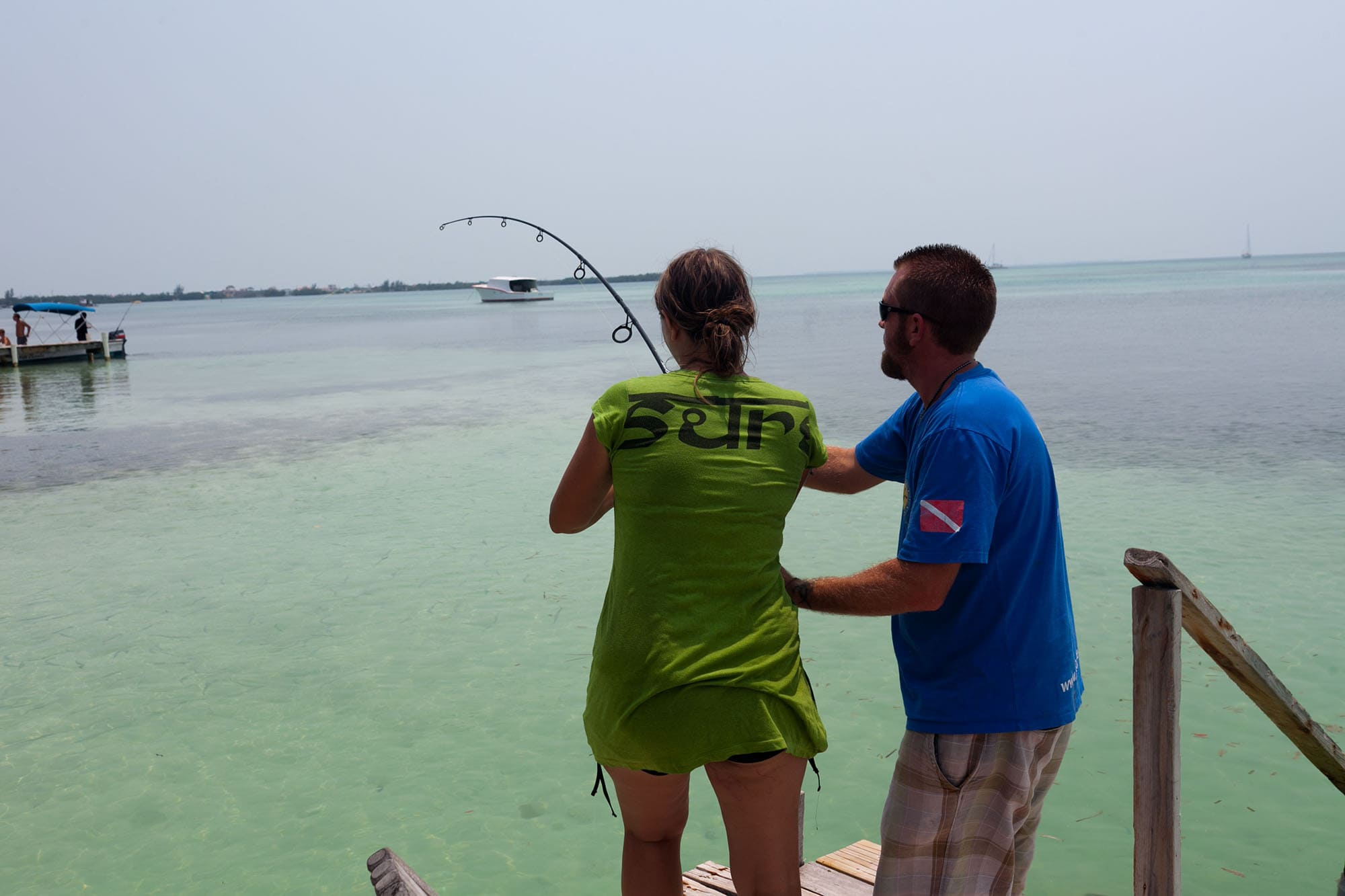 Fishing in Caye Caulker, Belize