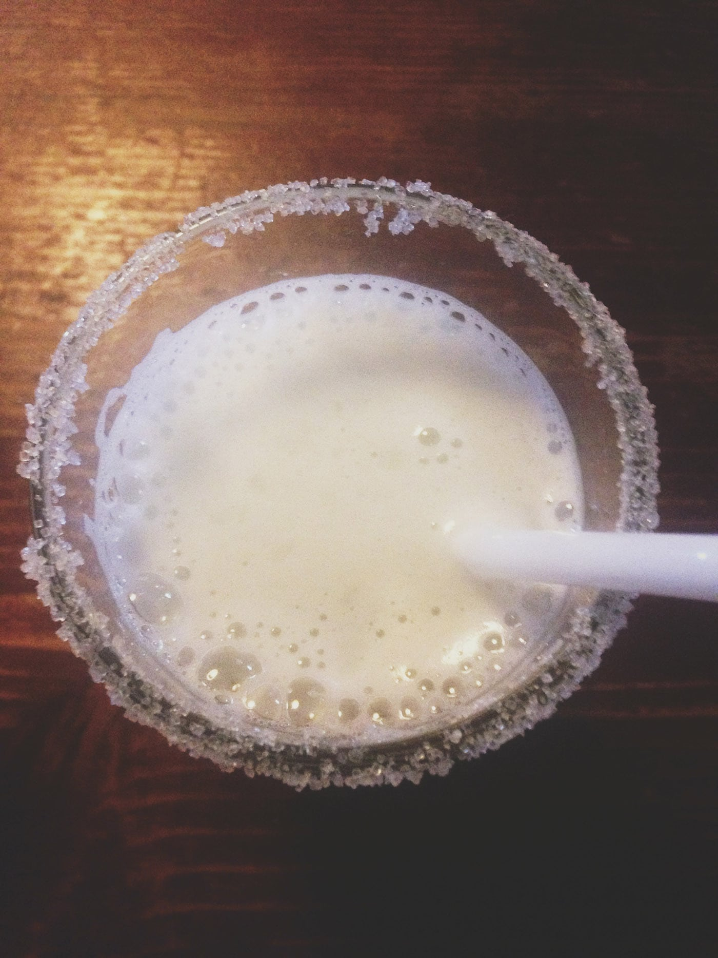 Pisco sour in Cusco, Peru