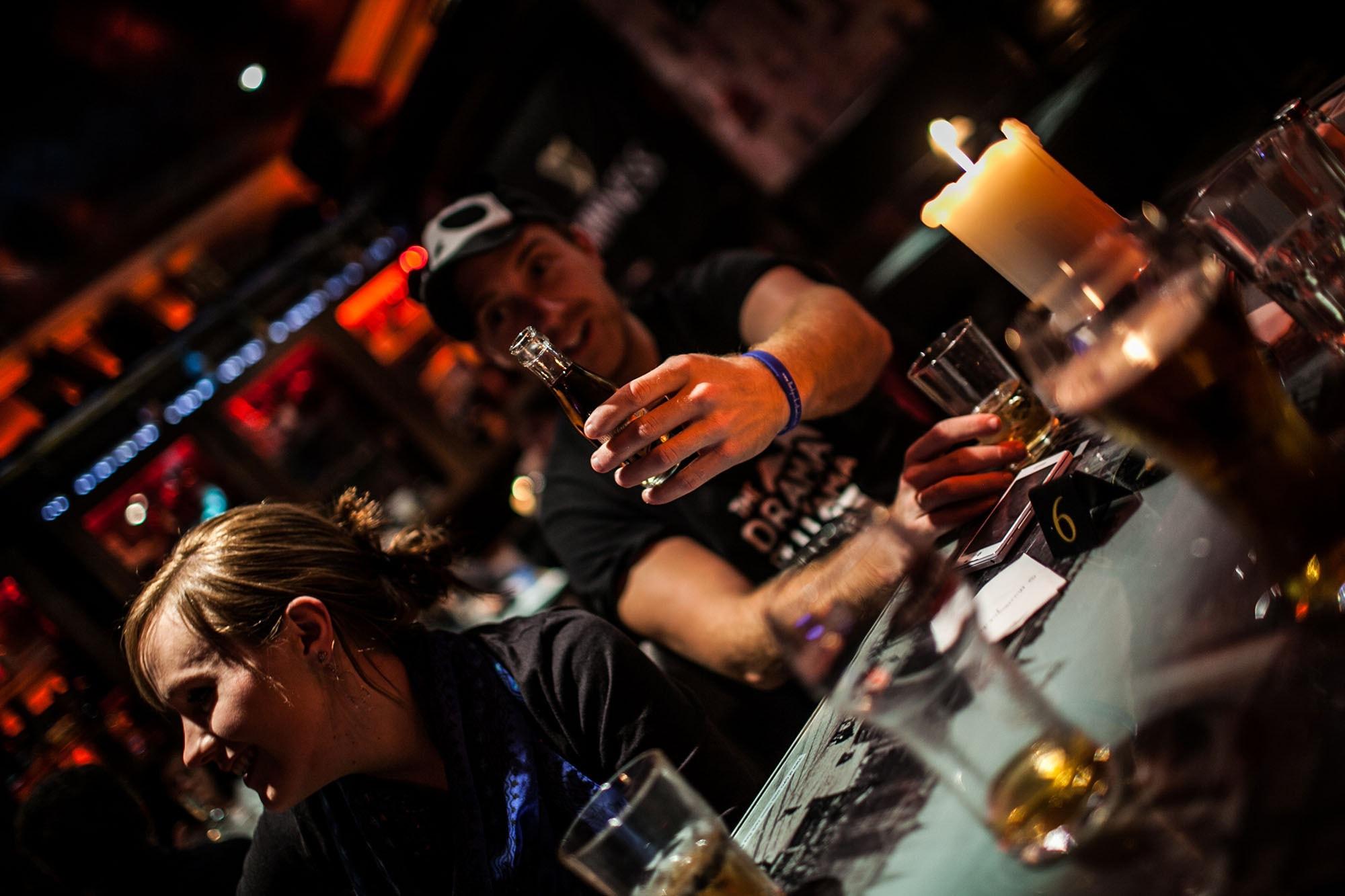 Drinking pints at a pub in Dublin, Ireland