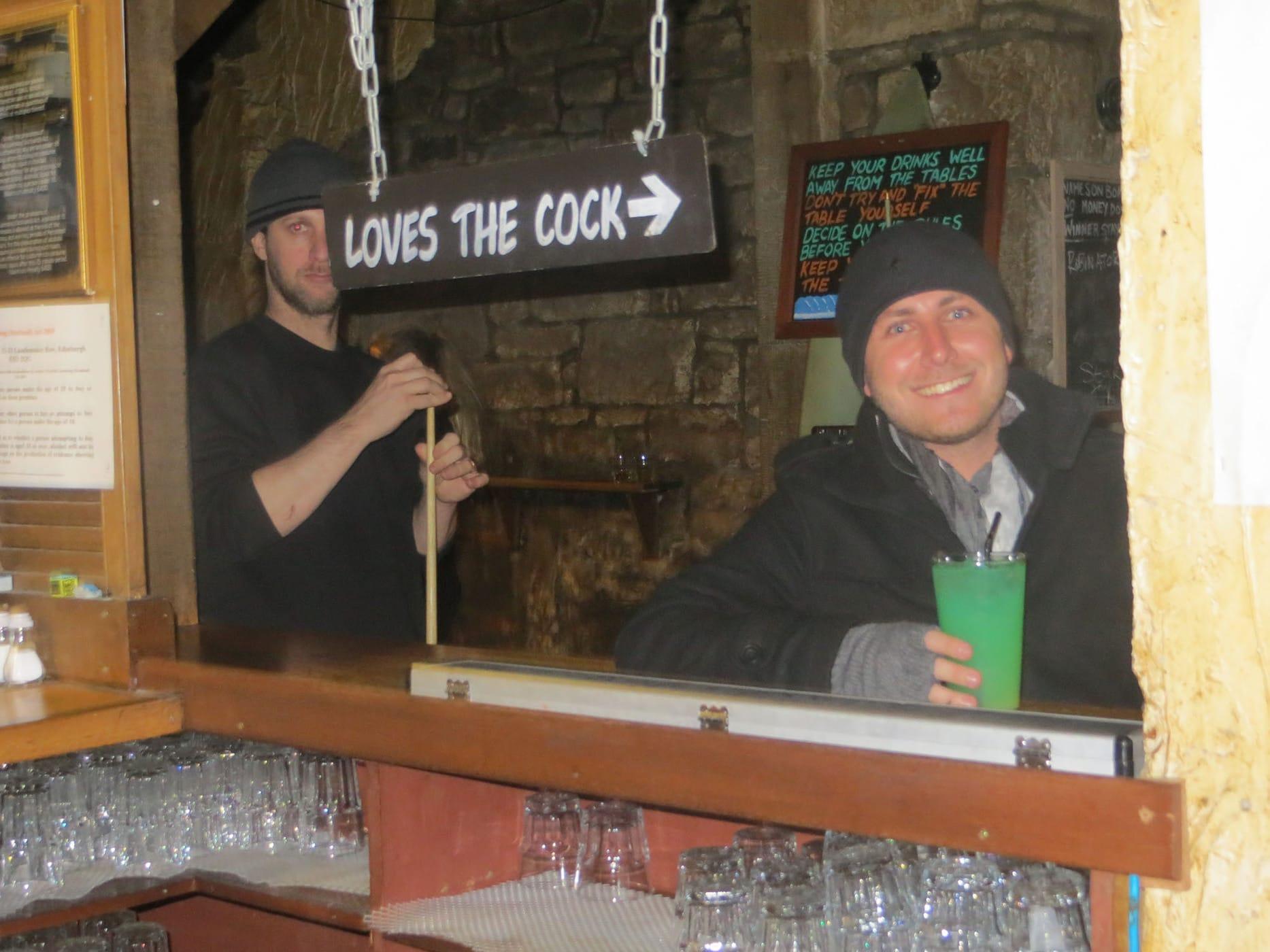 Pub crawl in Edinburgh, Scotland