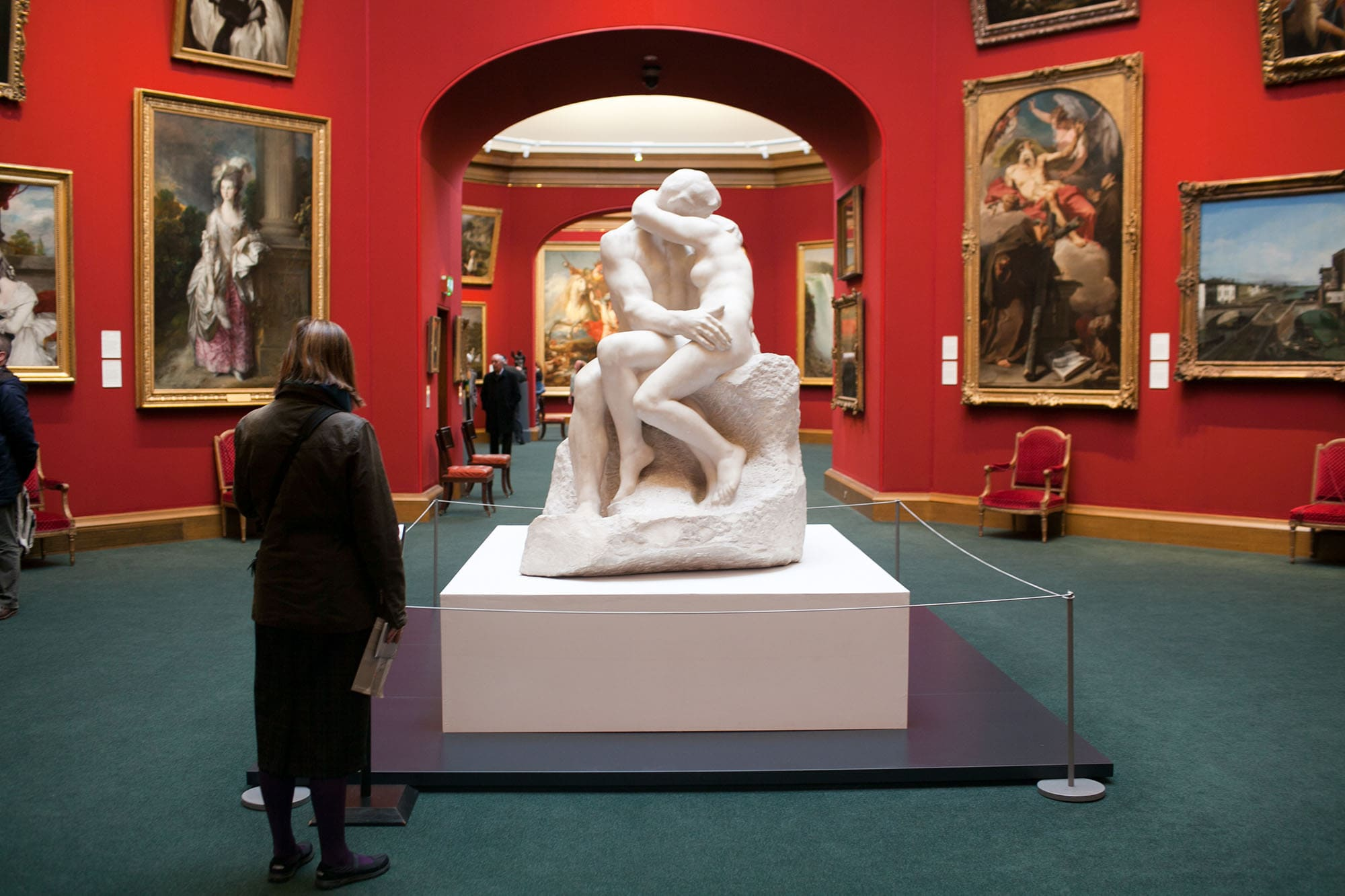Rodin's The Kiss at the Scottish National Gallery in Edinburgh, Scotland