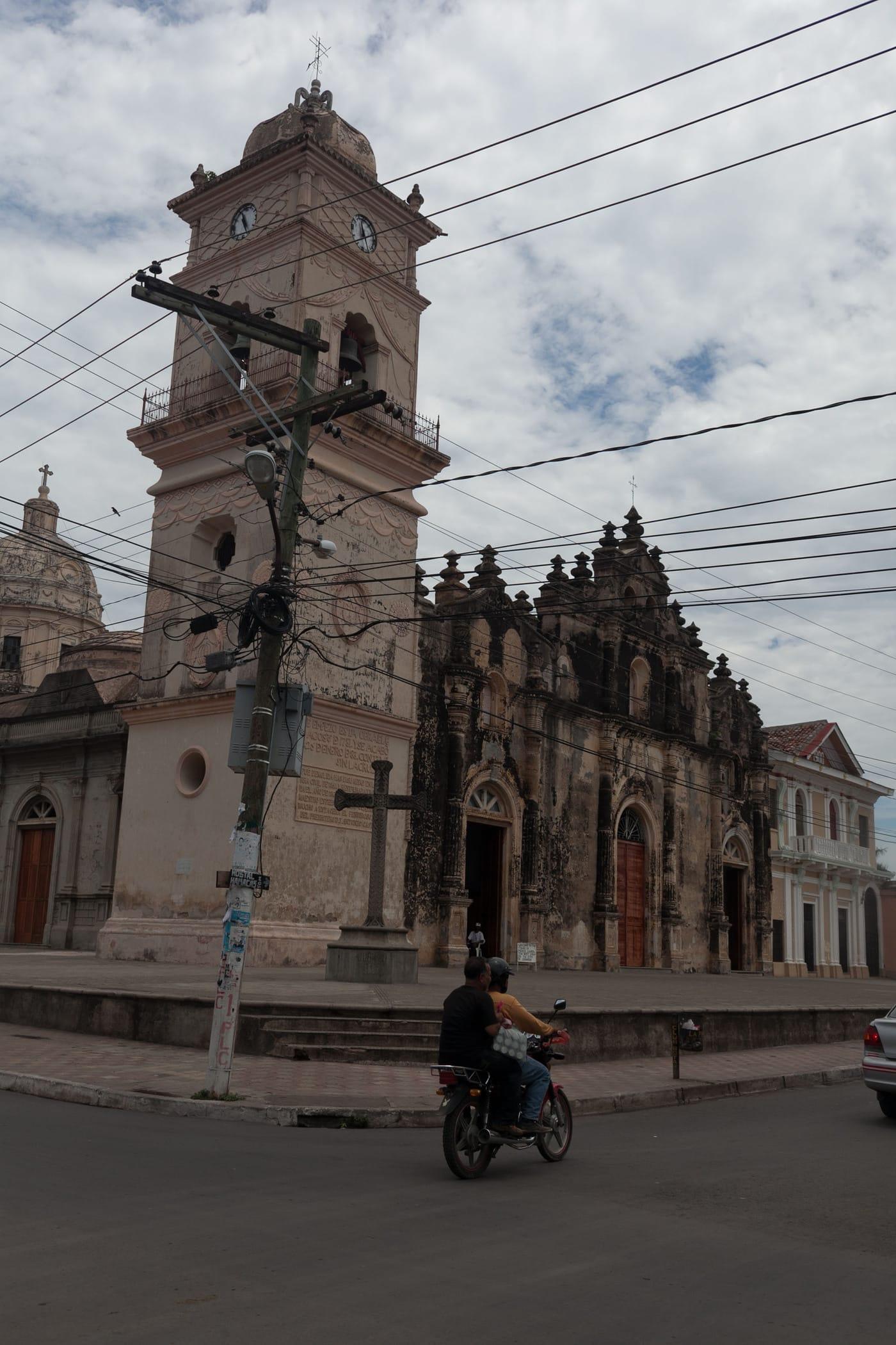 Tower La Merced Church in Granada, Nicaragua