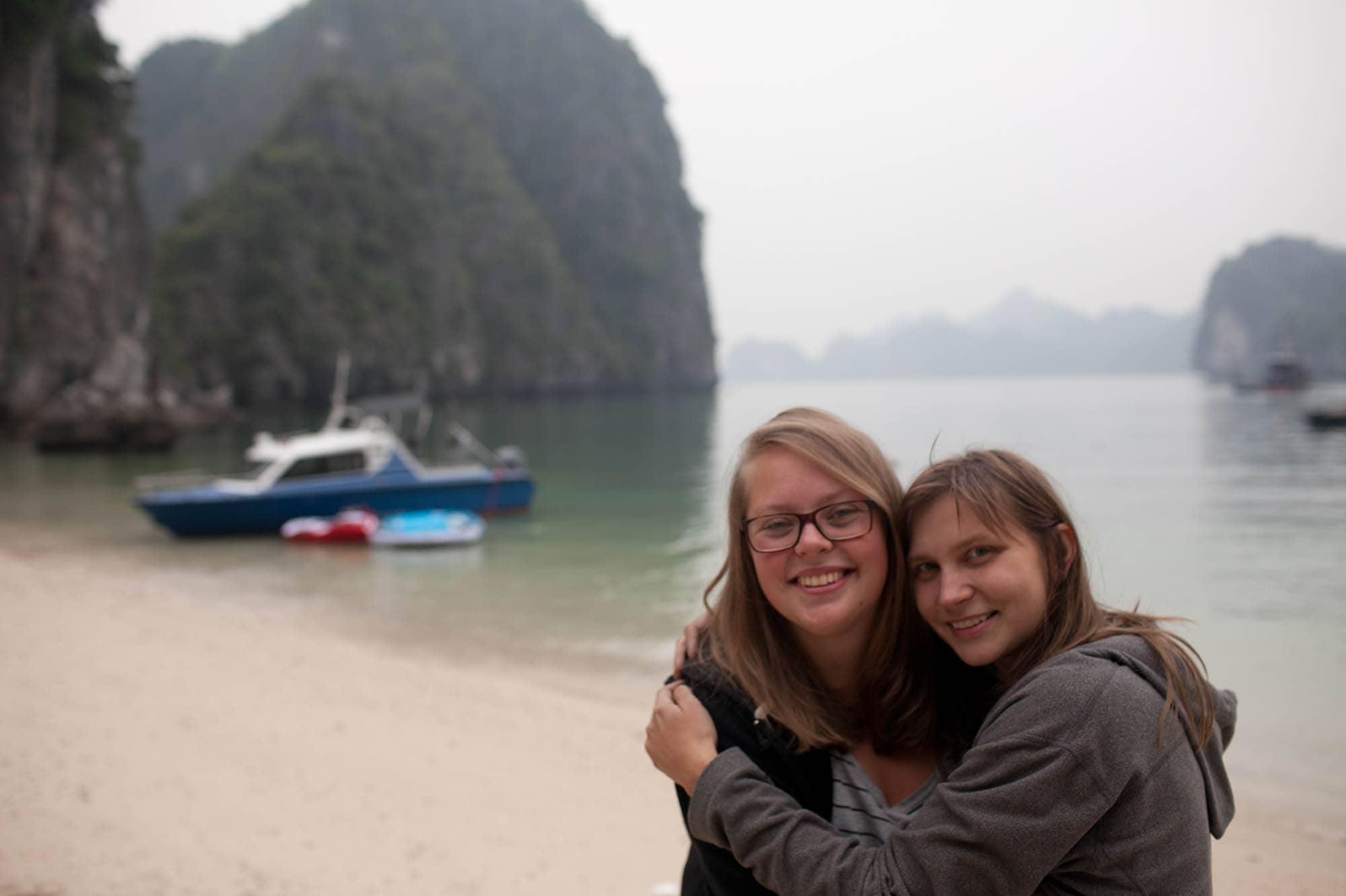 Celebrating the New Year on Halong Bay.