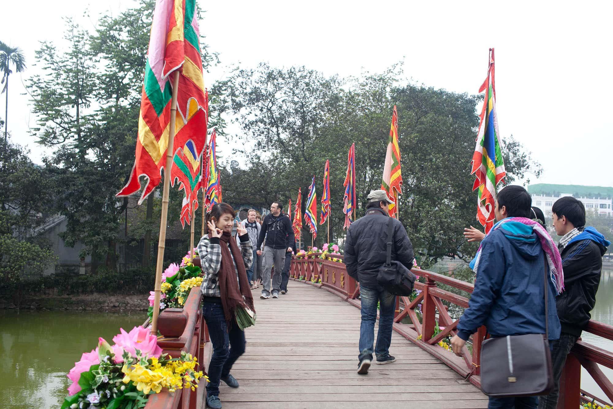 Temple in Hanoi, Vietnam.