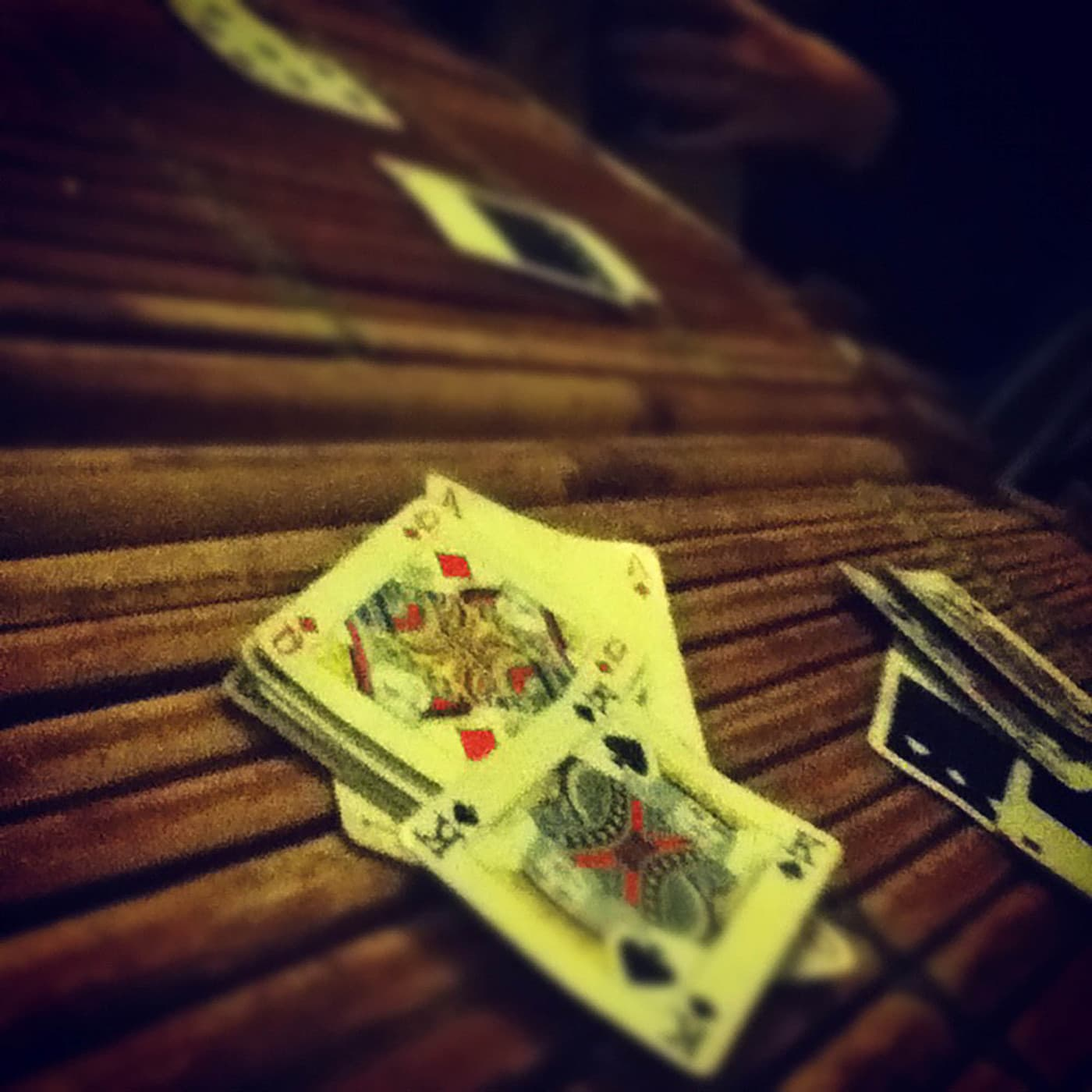 Playing euchre in Hue, Vietnam