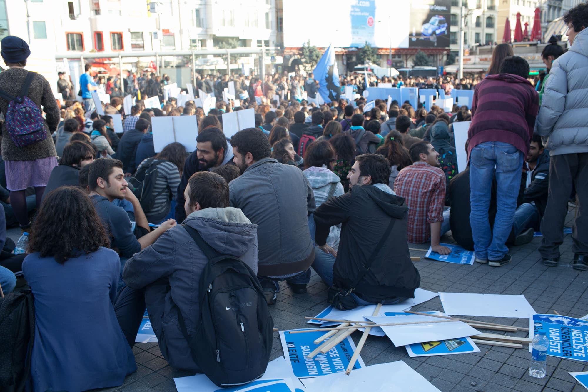 Protest in Taksim Square, Istanbul, Turkey