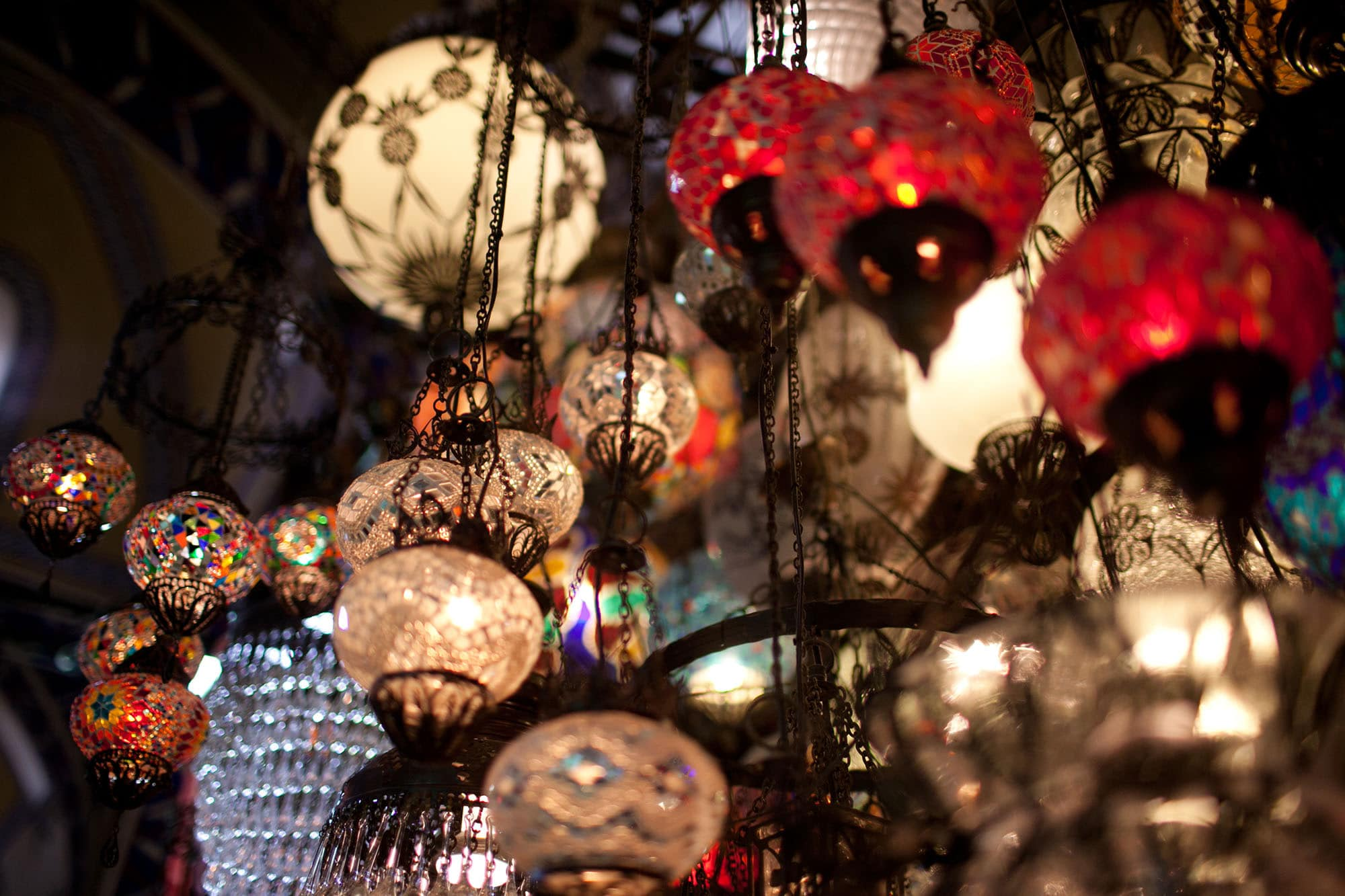 Grand Bazaar in Istanbul, Turkey.