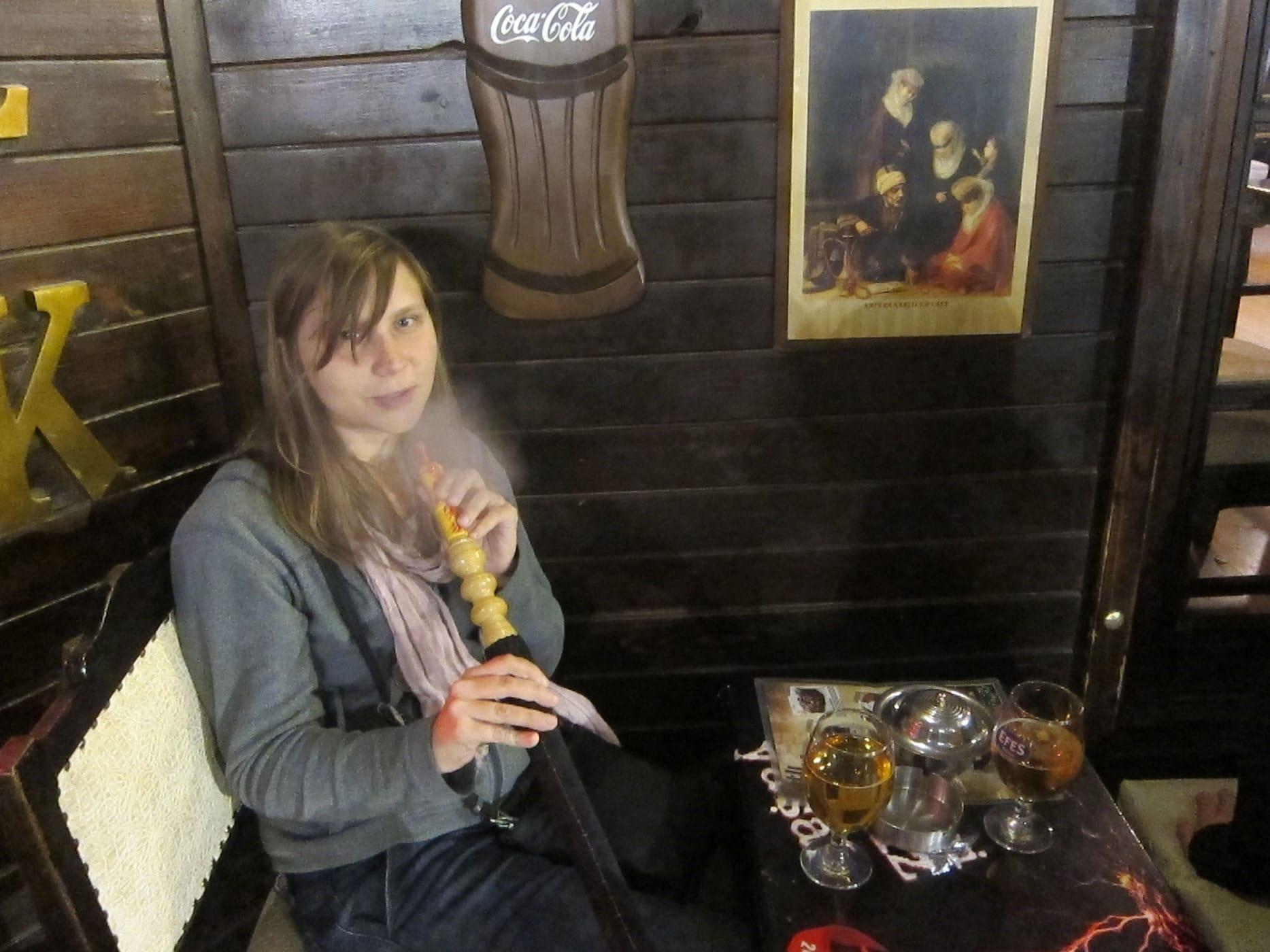 Hookah and beers in Istanbul, Turkey.