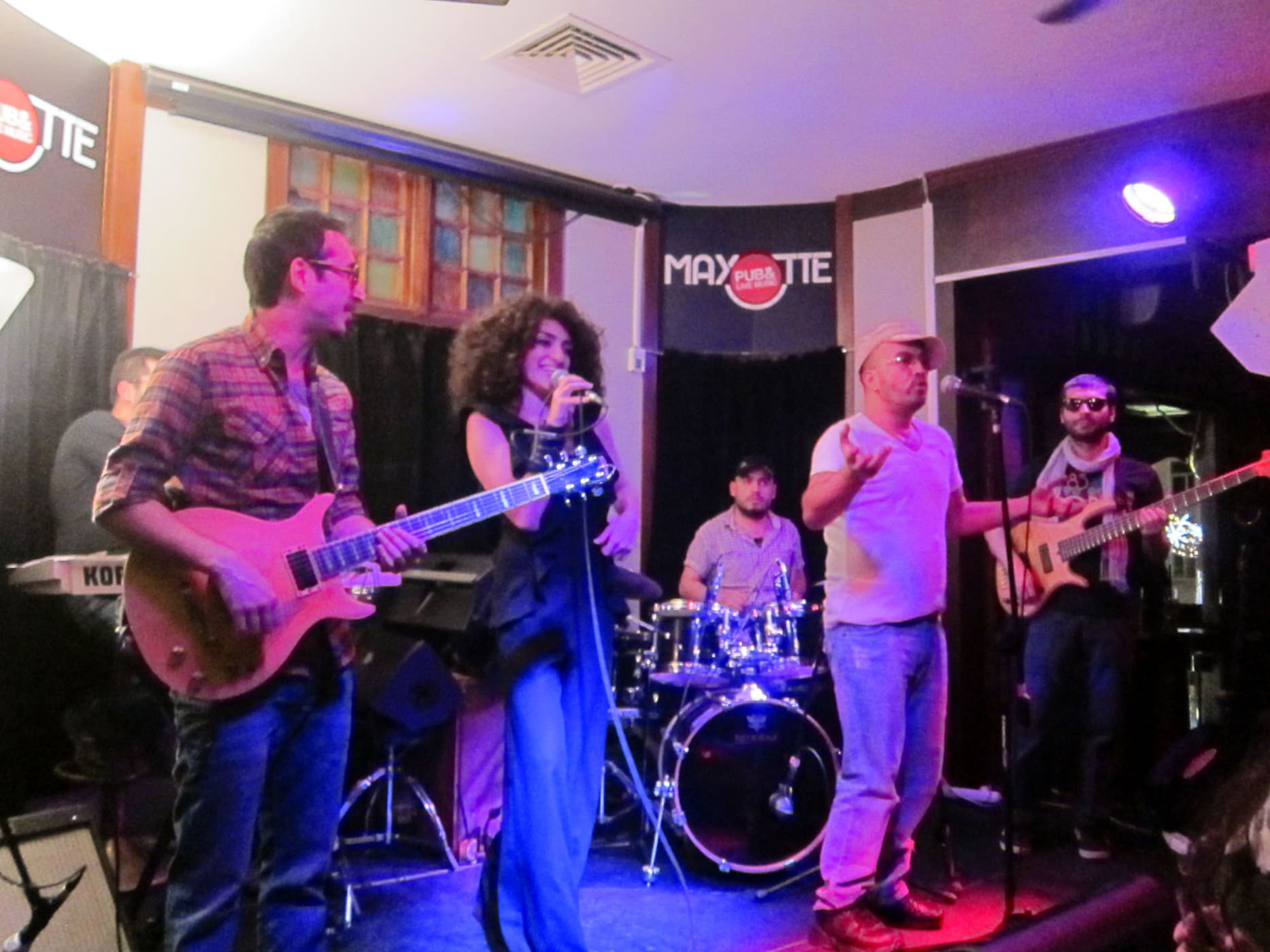 Cover band in Istanbul, Turkey.