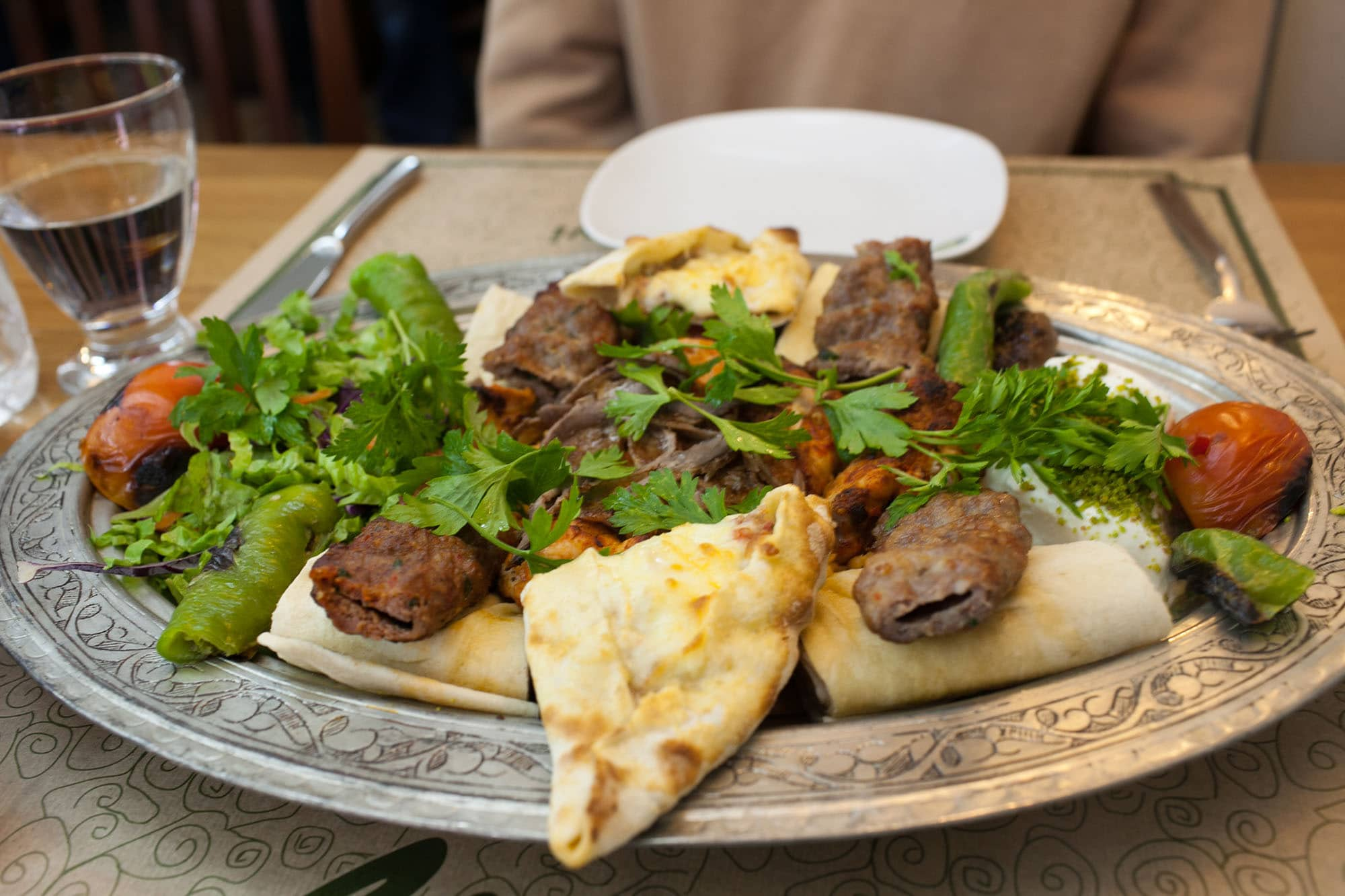 Mixed grill in Istanbul, Turkey.