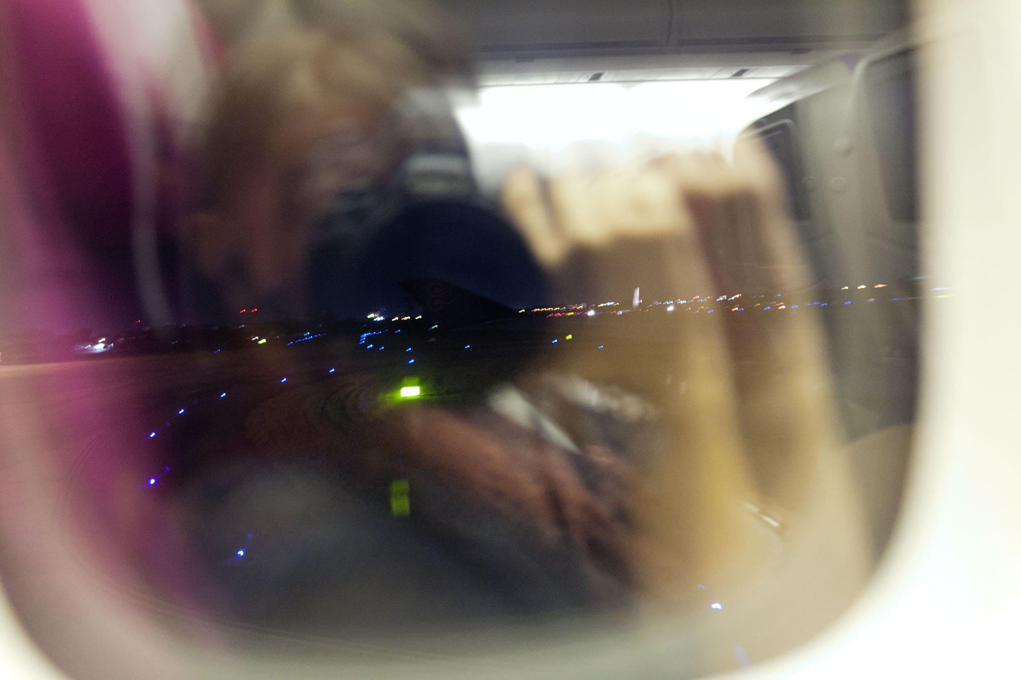 Flight from Chiang Mai to Bangkok.