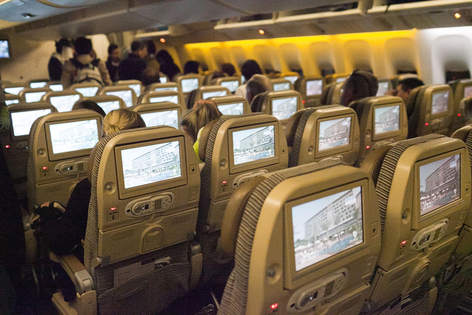 Flight from Bangkok to Abu Dhabi.