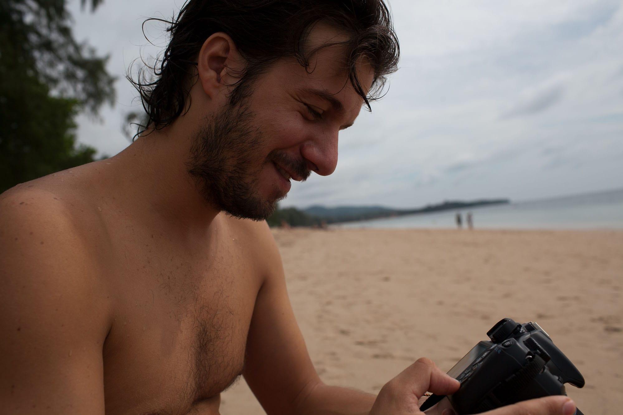 Taking photos in Koh Lanta, Thailand