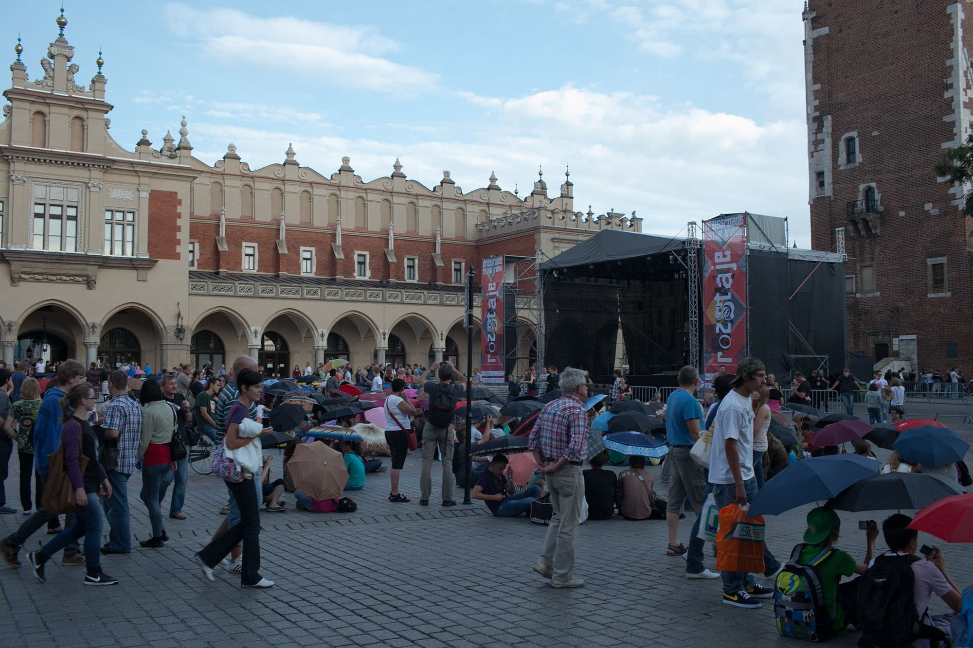 Flash mob in Krakow, Poland.