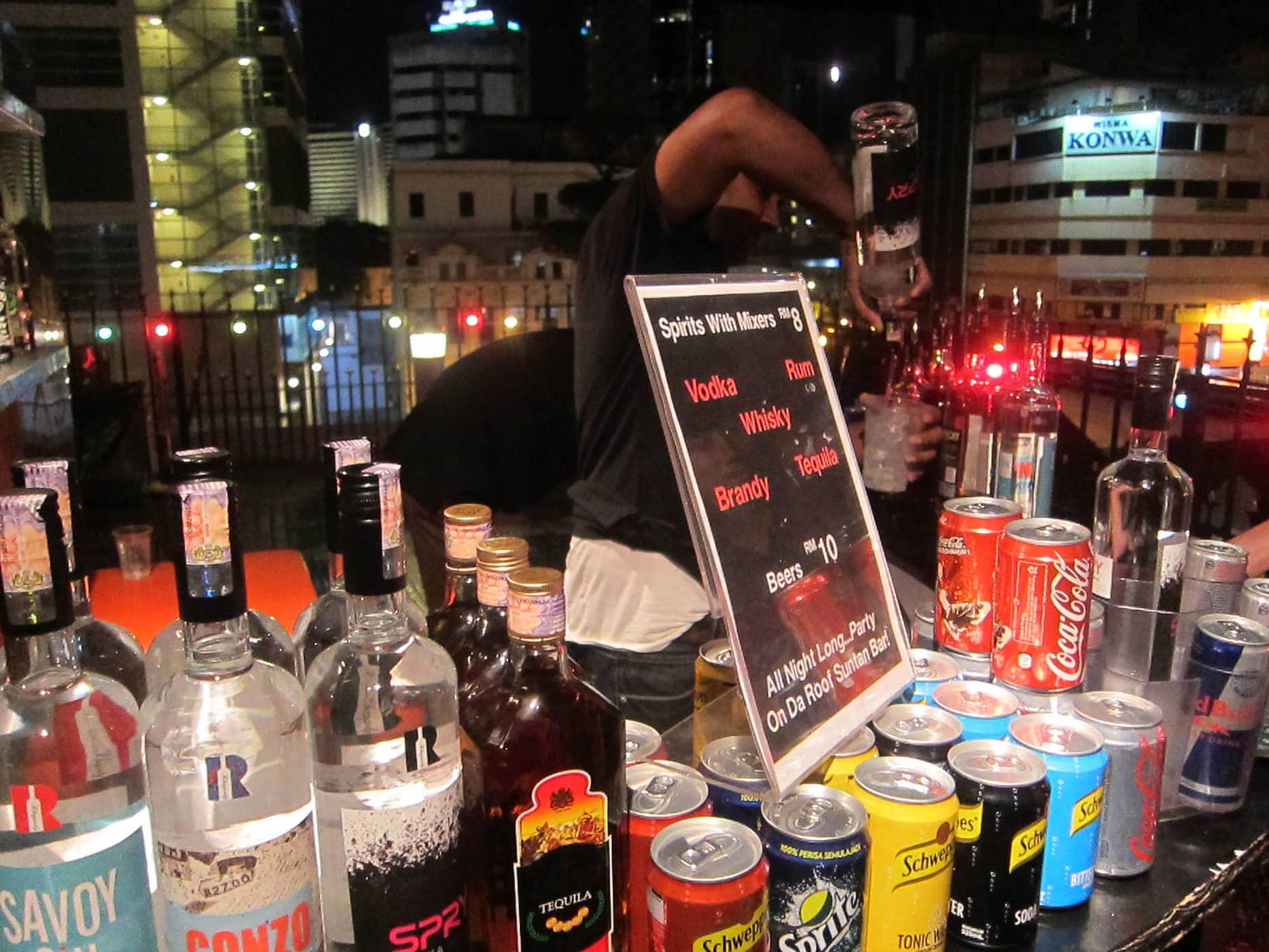 Rooftop bar at Reggae Mansion in Kuala Lumpur, Malaysia