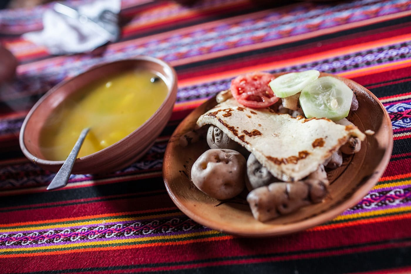 Potatoes and quinoa soup - Lake Titicaca Peru