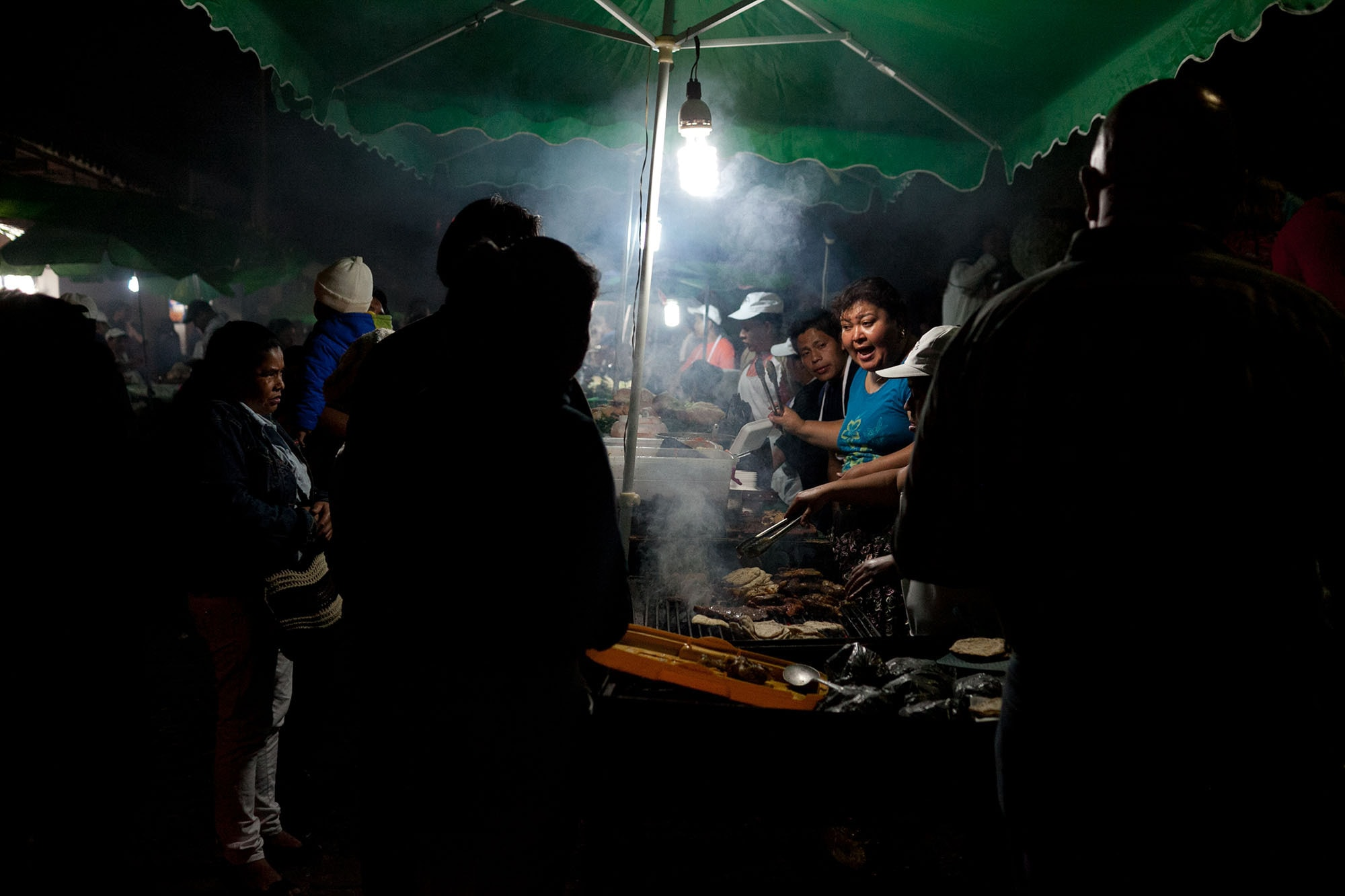 Night market in Antigua, Guatemala